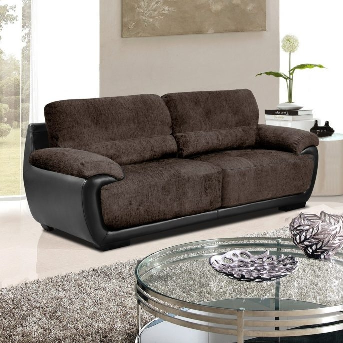 Sofas Center Leather Fabric Sofa Colorado Style Home Furnishings For Leather And Material Sofas (#13 of 15)