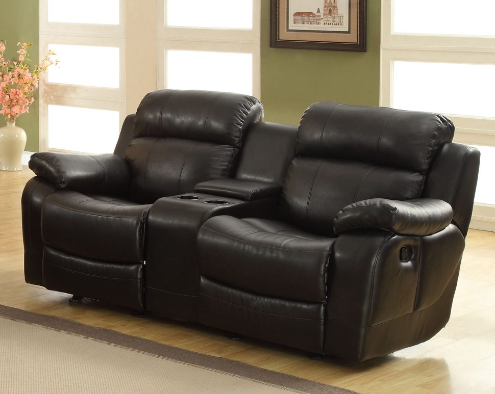 Sofas Center Power Recliner Sofa With Consolerecliner Console With Regard To Sofas With Consoles (#10 of 15)