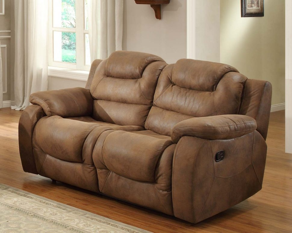 Sofas Center Reclining Sofa With Console Double Power Recliner Intended For Sofas With Consoles (#11 of 15)