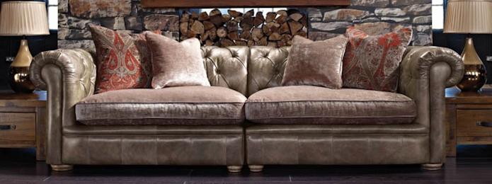Sofas Devon Leather Sofas Fabric Sofas Armchairs With Regard To Tweed Fabric Sofas (#14 of 15)