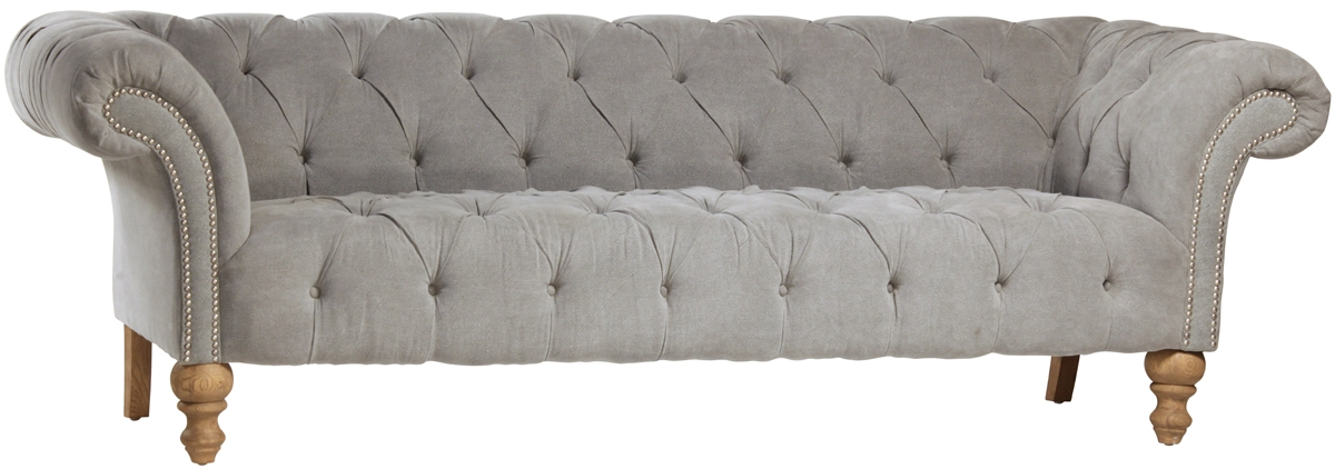 Popular Photo of Tufted Linen Sofas
