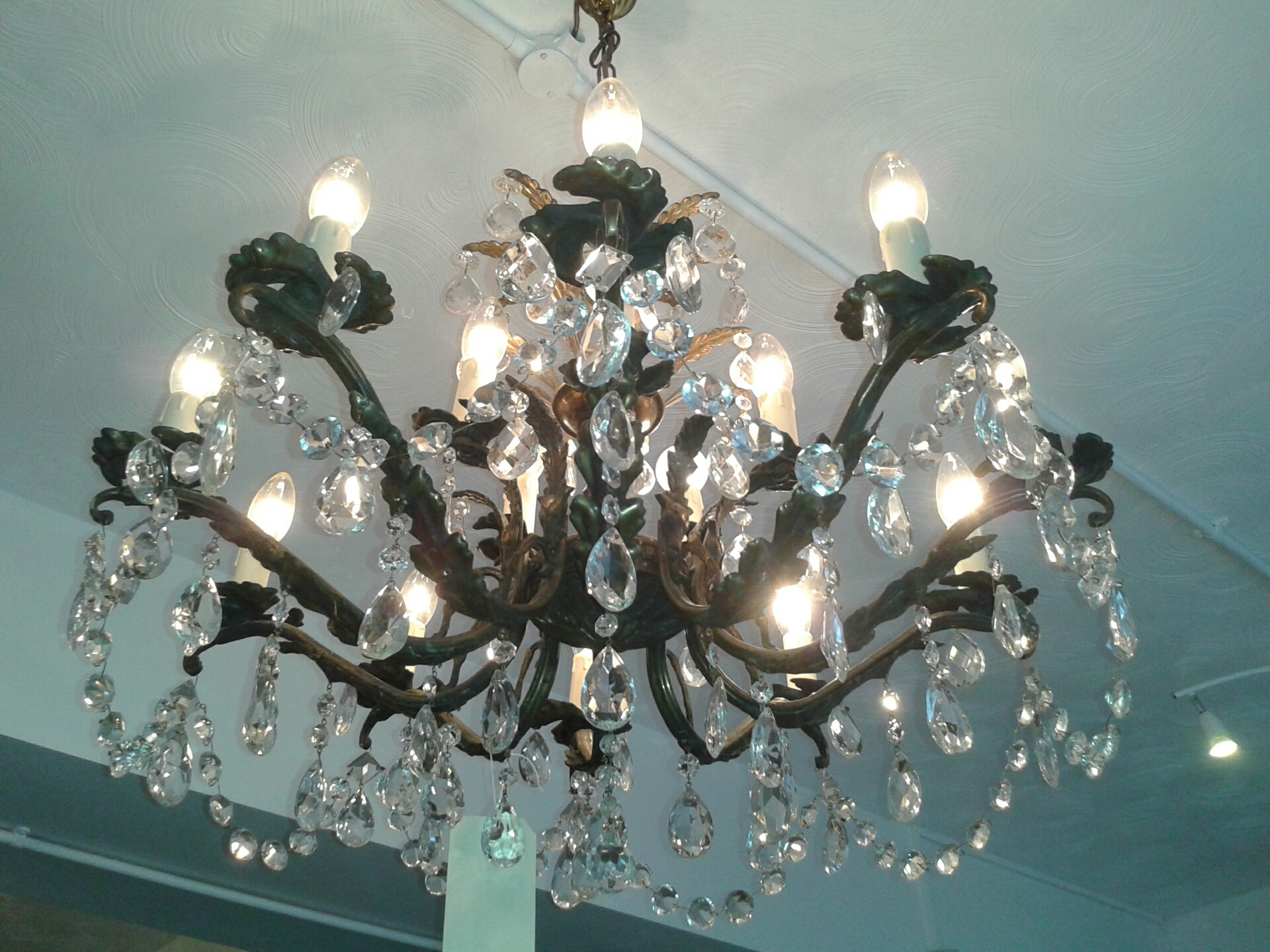 Sold Mid 20th Century 15 Light Chandelier Th121 With Regard To Edwardian Chandeliers (#12 of 12)
