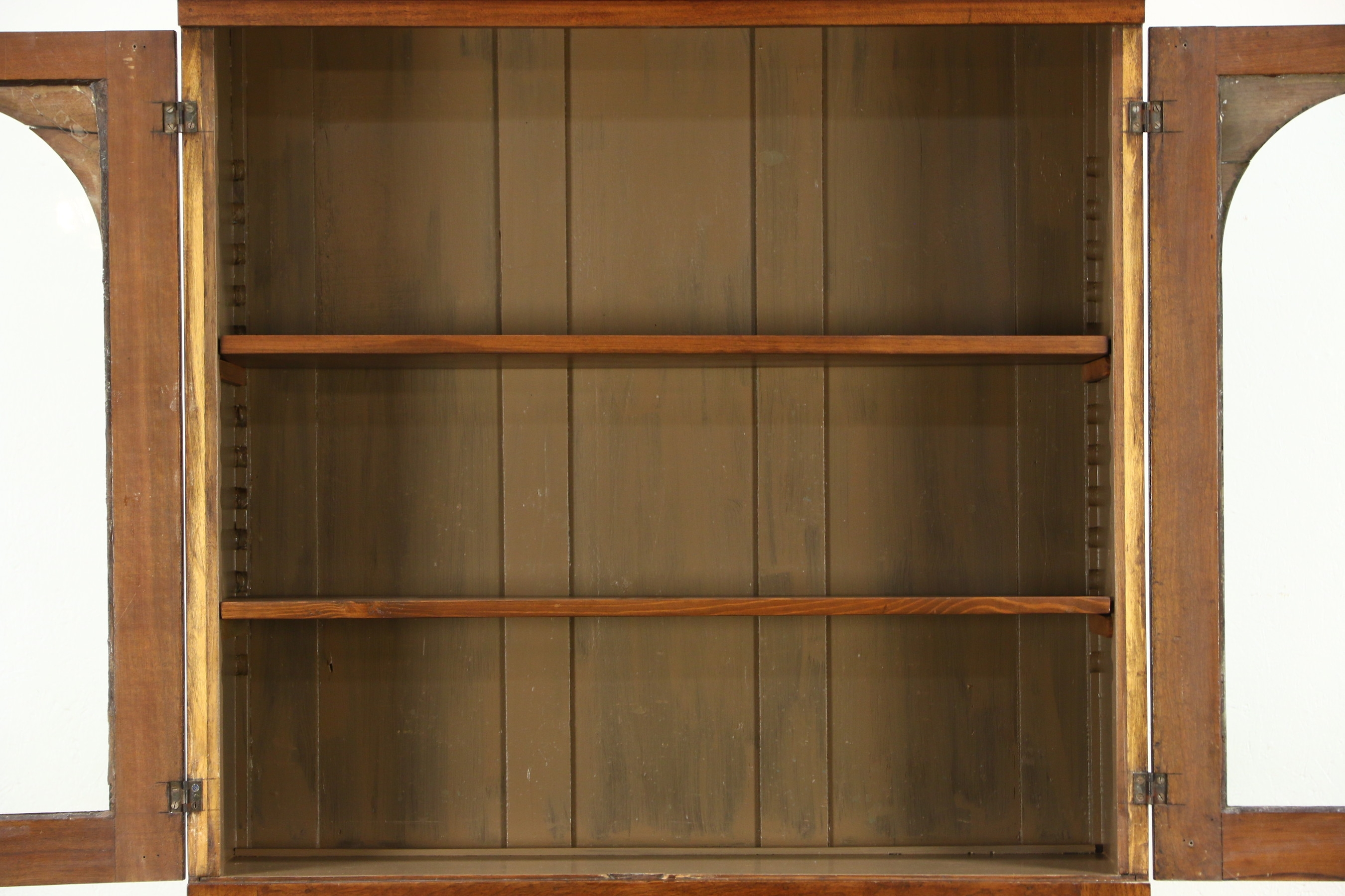 Sold Pennsylvania Walnut 1850s Antique Bookcase Or Cupboard In Cupboard Bookcase (#11 of 15)