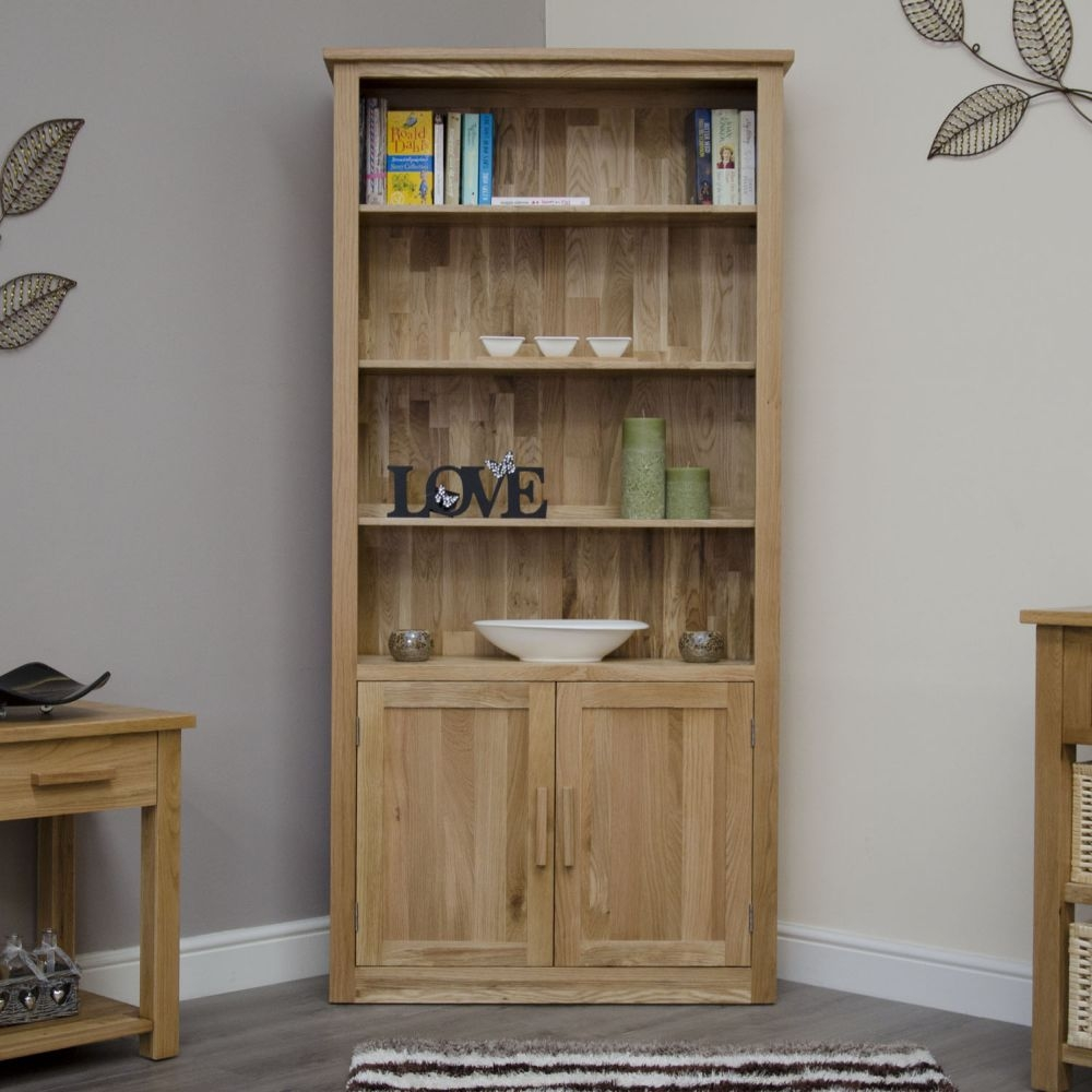 Solid Oak Furniture Oak Bookcase Office Furniture Arden Collection Pertaining To Cupboard Bookcase (#12 of 15)