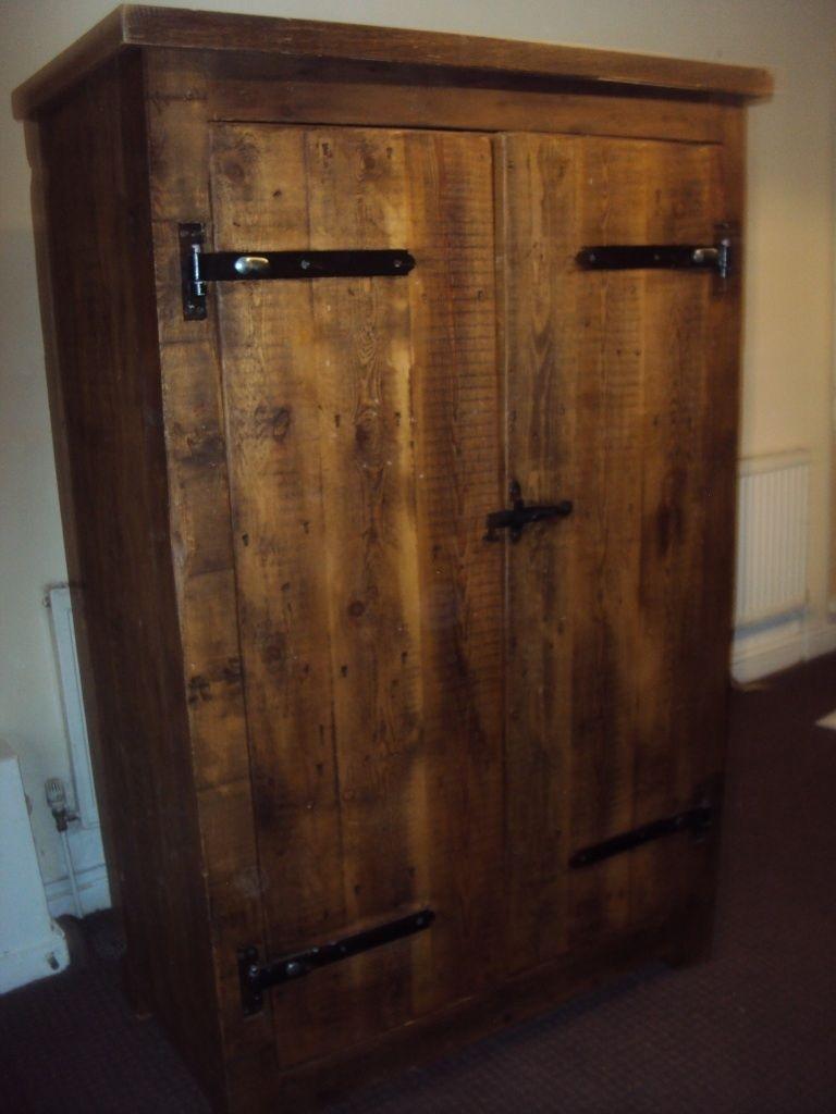 Solid Oak Wardrobe Dark Wood Vintage Antique In Eccles Within Solid Dark Wood Wardrobes (View 3 of 15)