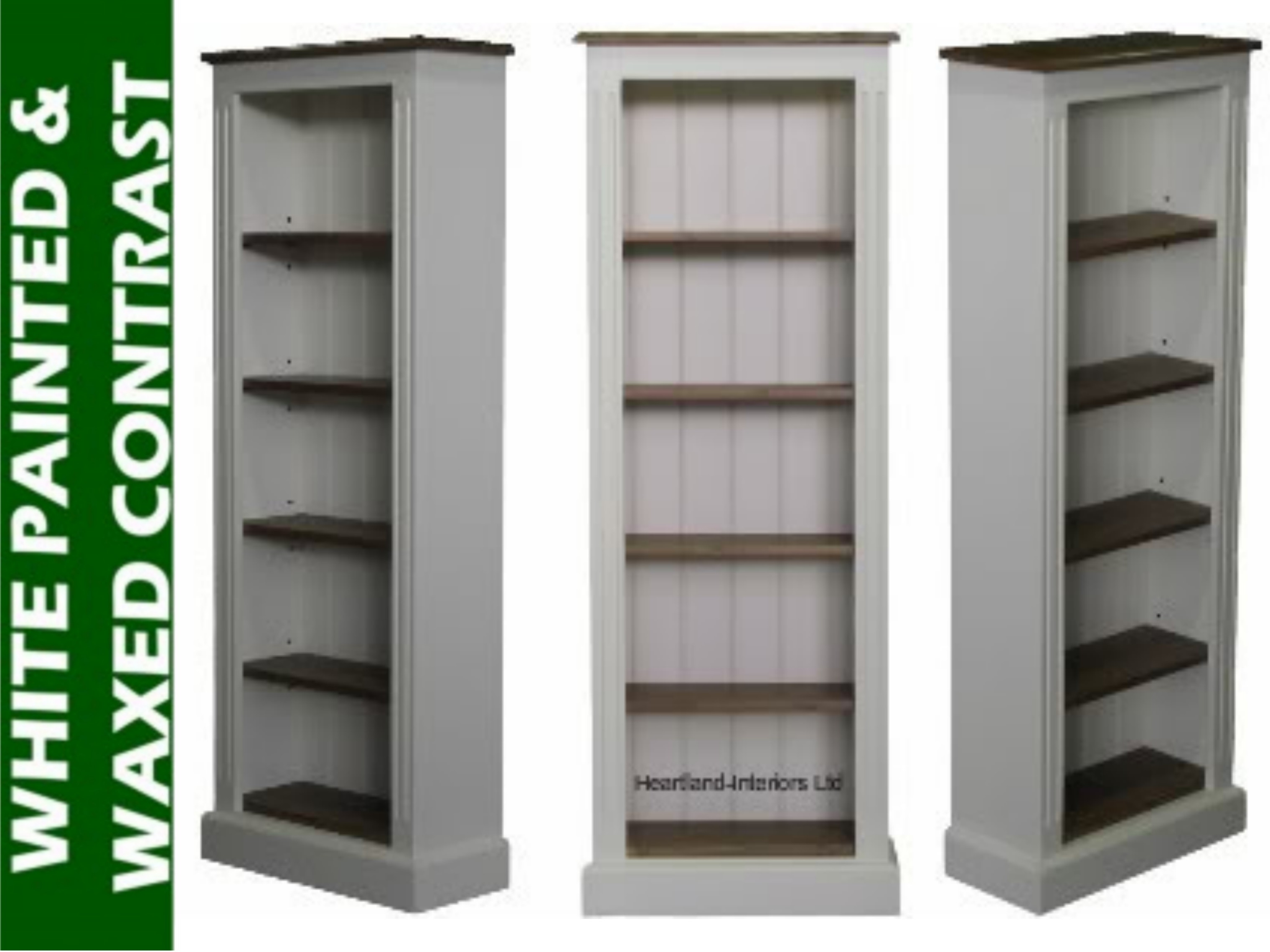 15 Collection Of White Painted Bookcase
