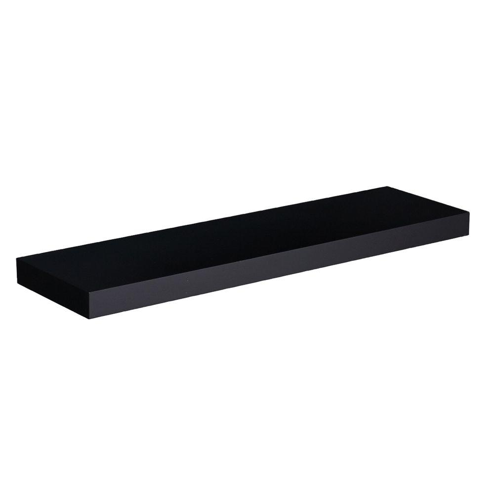 Southern Enterprises 10 In Chicago Black Floating Shelf Price Pertaining To Floating Shelf (View 12 of 15)