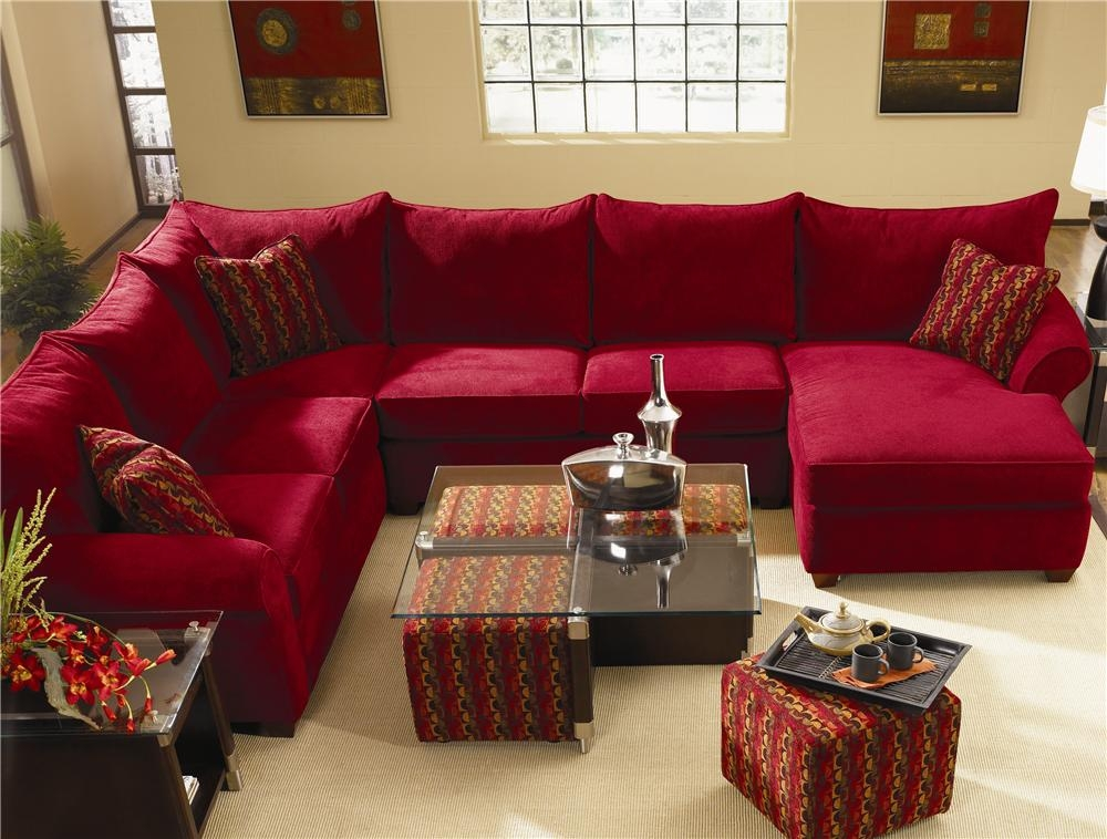 Spacious Sectional With Chaise Lounge Klaussner Wolf And With Regard To Sofas With Chaise Longue (#15 of 15)