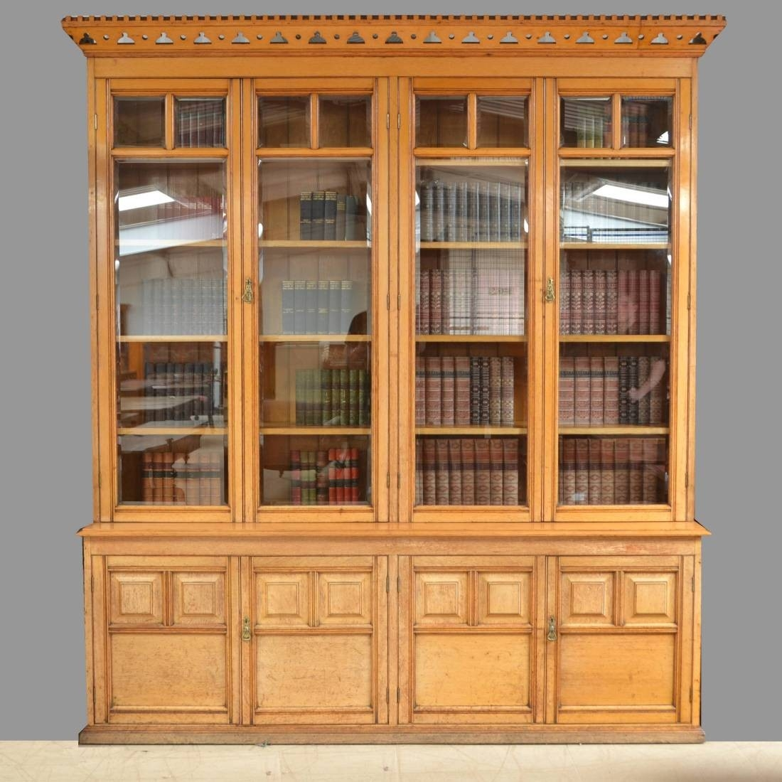 Spectacular Huge Solid Oak Antique Arts And Crafts Victorian With Regard To Huge Bookcase (#14 of 15)