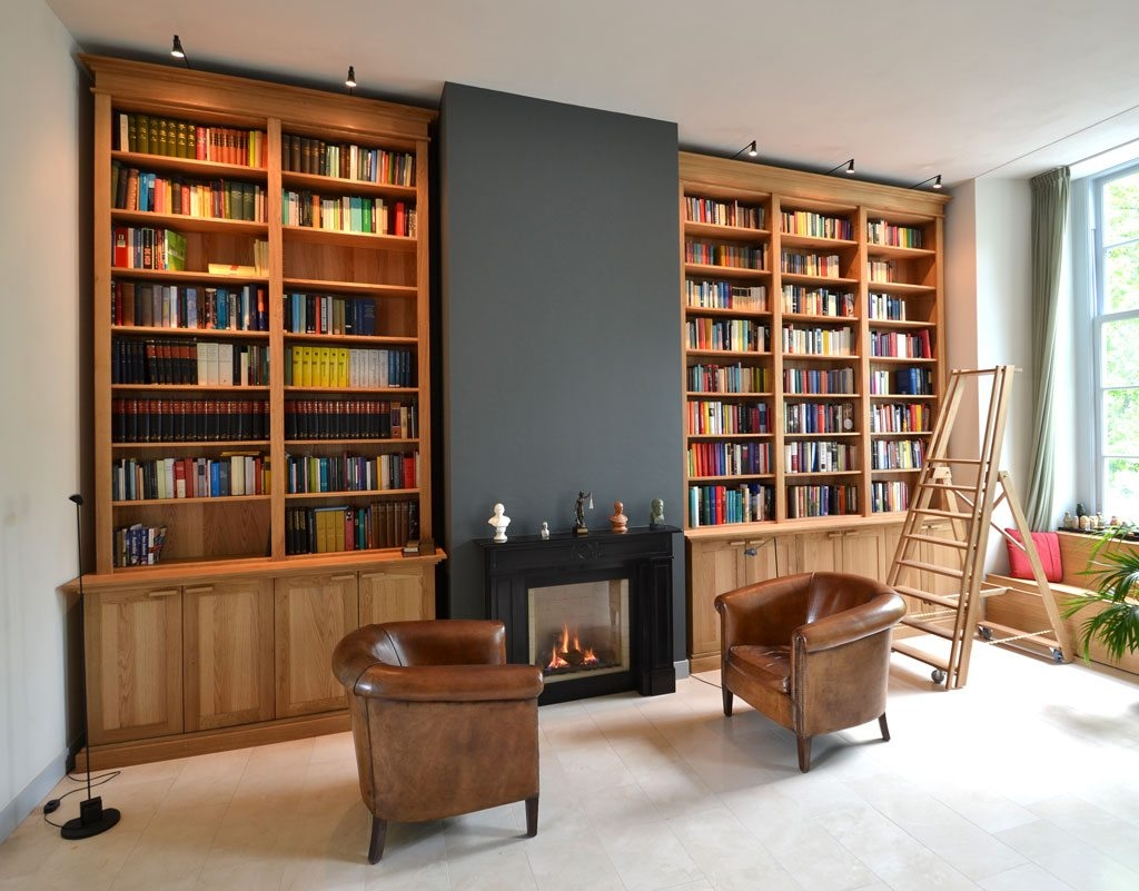 Splendid Large And Tall Classic Oak Bookcases Furniture Design With Regard To Classic Bookcases (#13 of 15)