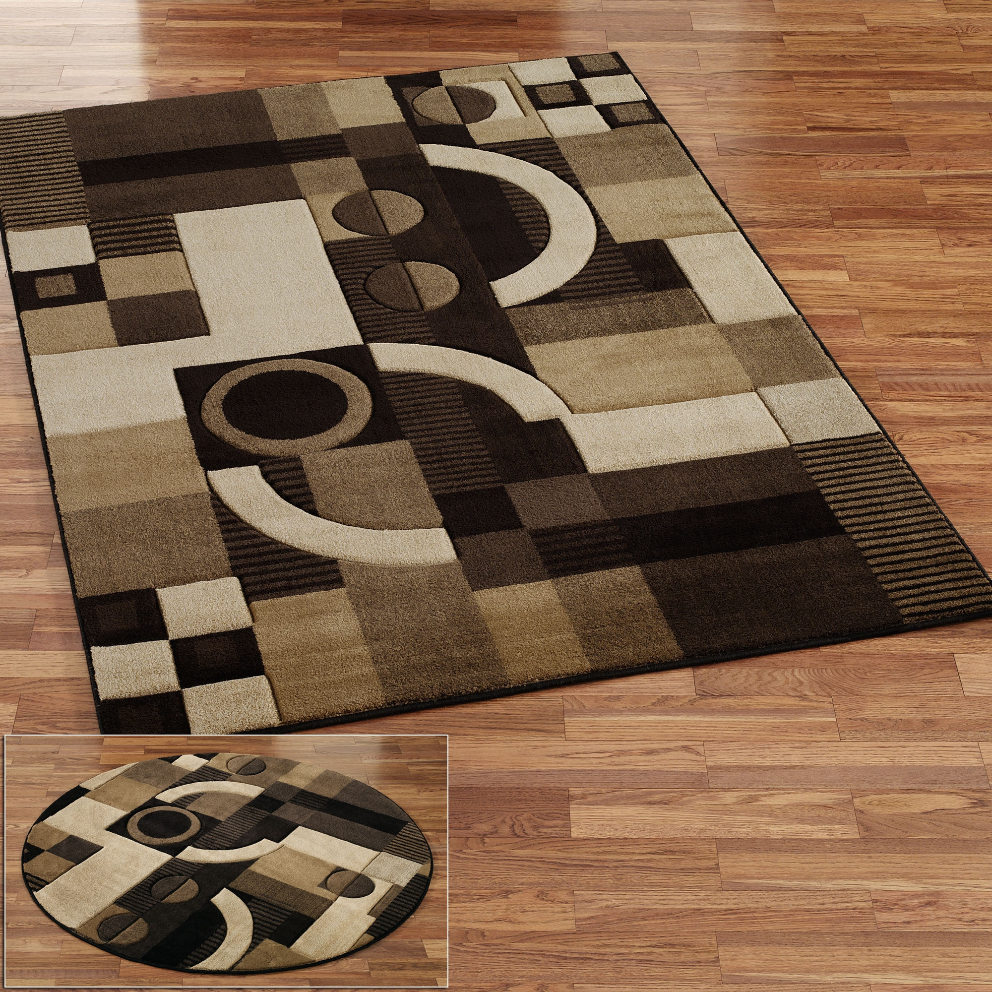 Square Contemporary Rugs With Square Wool Area Rugs (#13 of 15)