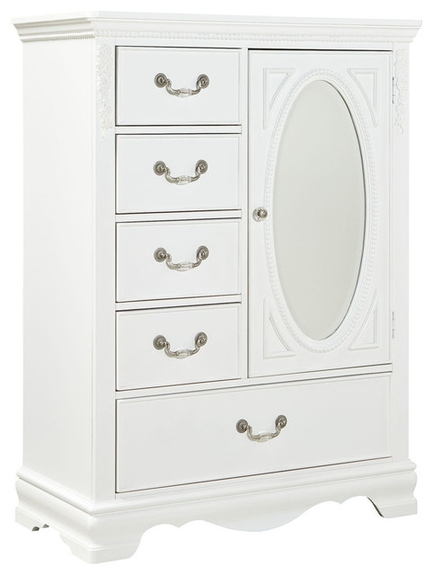 Standard Jessica Wardrobe Chest White Paint Traditional Kids Within White Wardrobe Armoire (View 8 of 15)