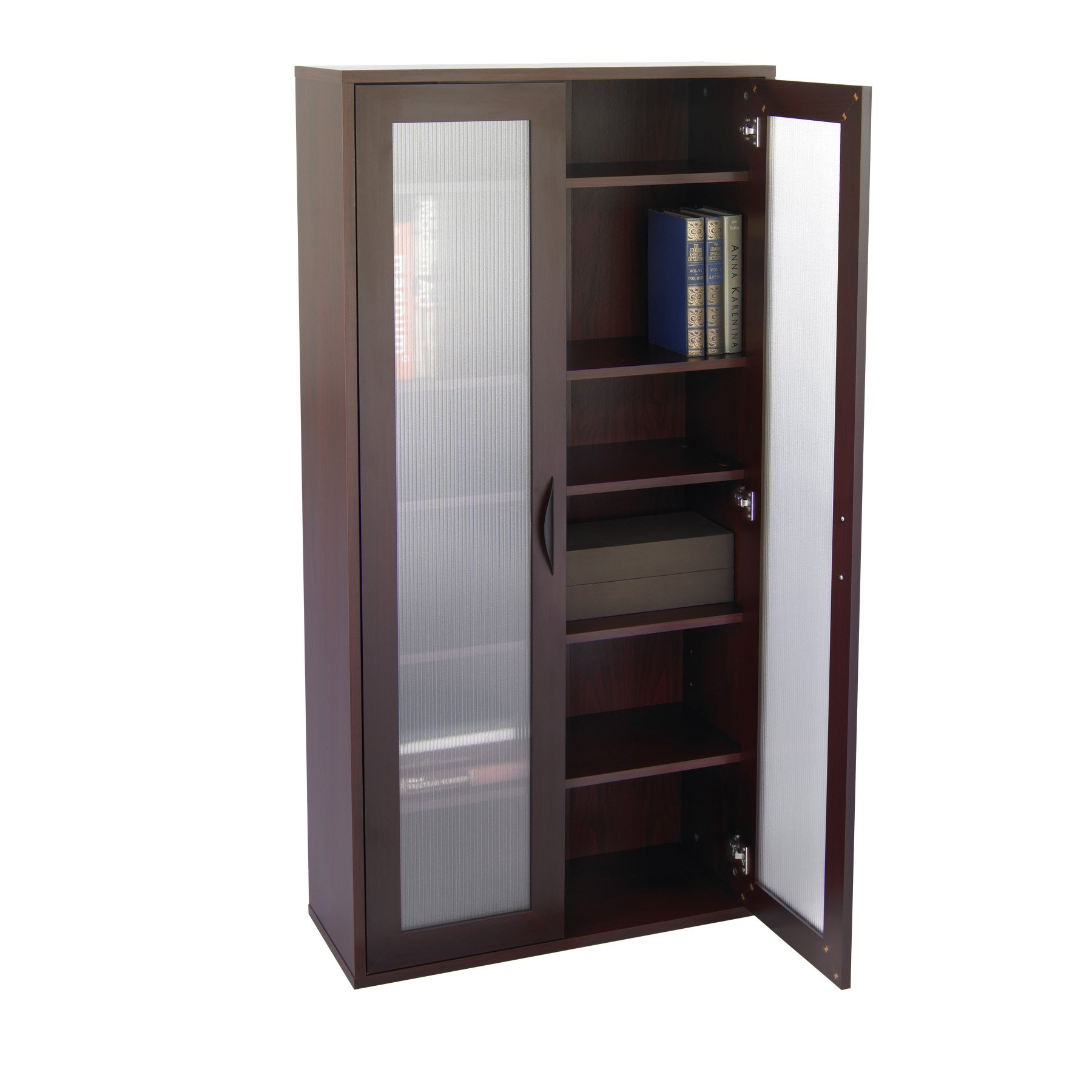 Storage Bookcase With Glass Doors Tall Mahogany Walmart With Regard To Bookcase With Doors (View 12 of 15)