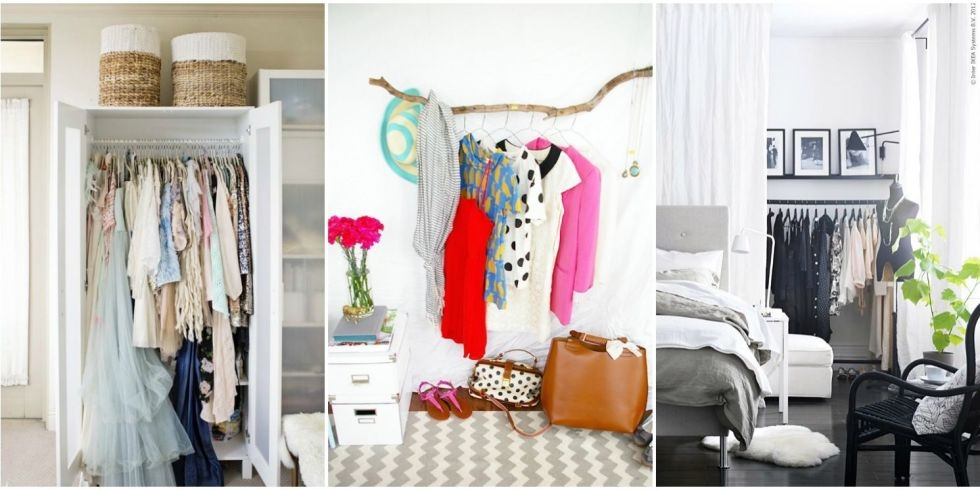 Storage Ideas For A Bedroom Without A Closet Genius Clothing Inside Wardrobe Hangers Storages (#14 of 15)