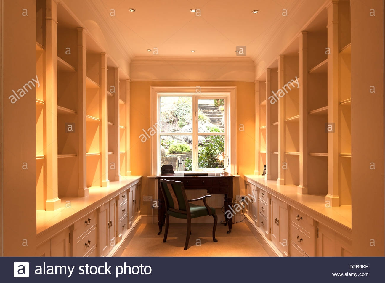 Study Lined With Cupboards And Shelving Stock Photo Royalty Free In Study Cupboards (Image 5 of 12)