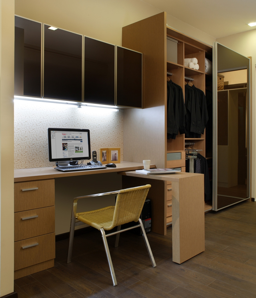 Study Table With Wall Cabinet Wardrobe Our Showroom Pinterest With Study Cupboard Designs (View 3 of 15)