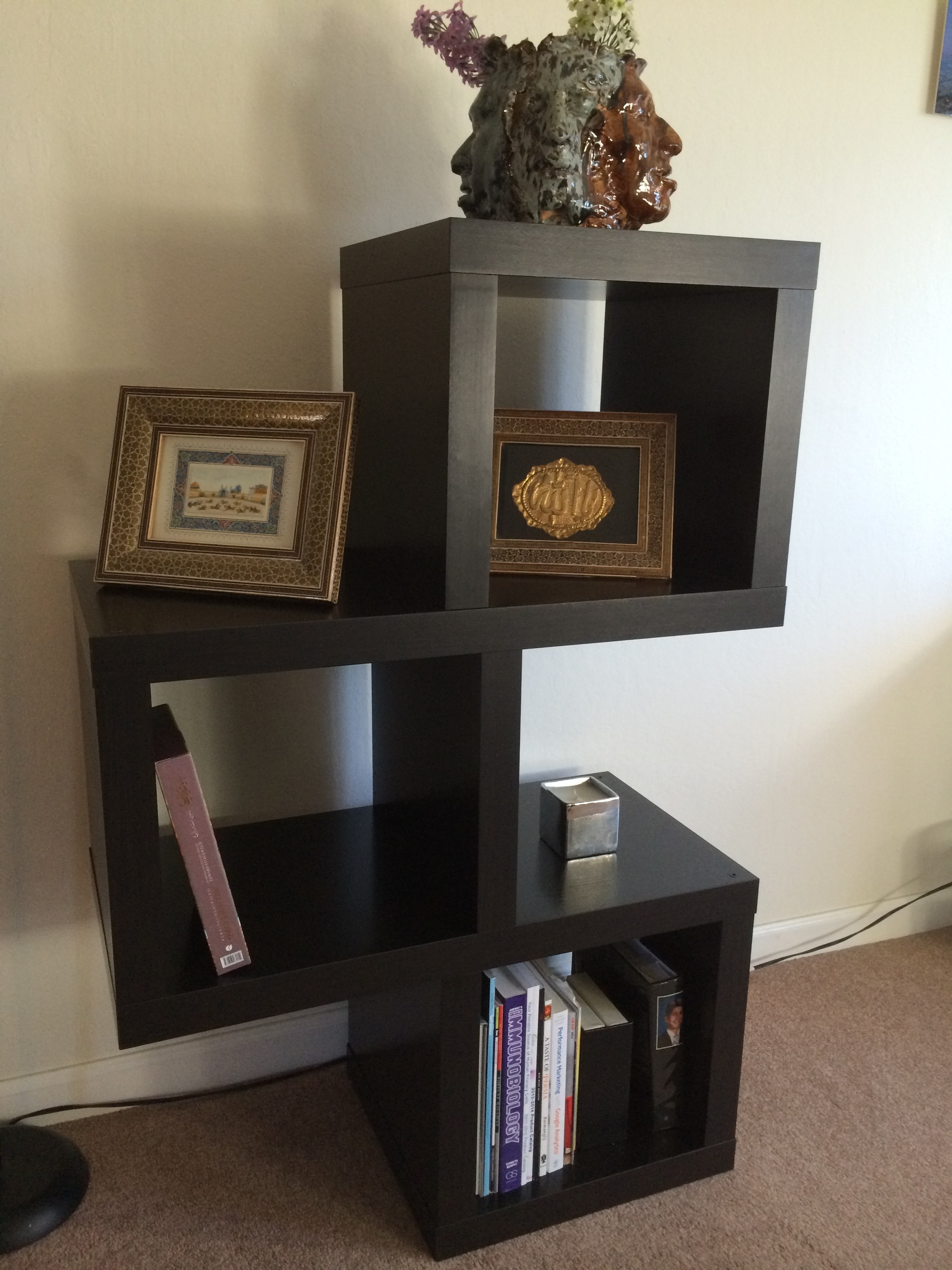 Stunning Shelving Unit With Modular Wall Shelving Also Painted Pertaining To Painted Shelving Units (#11 of 15)