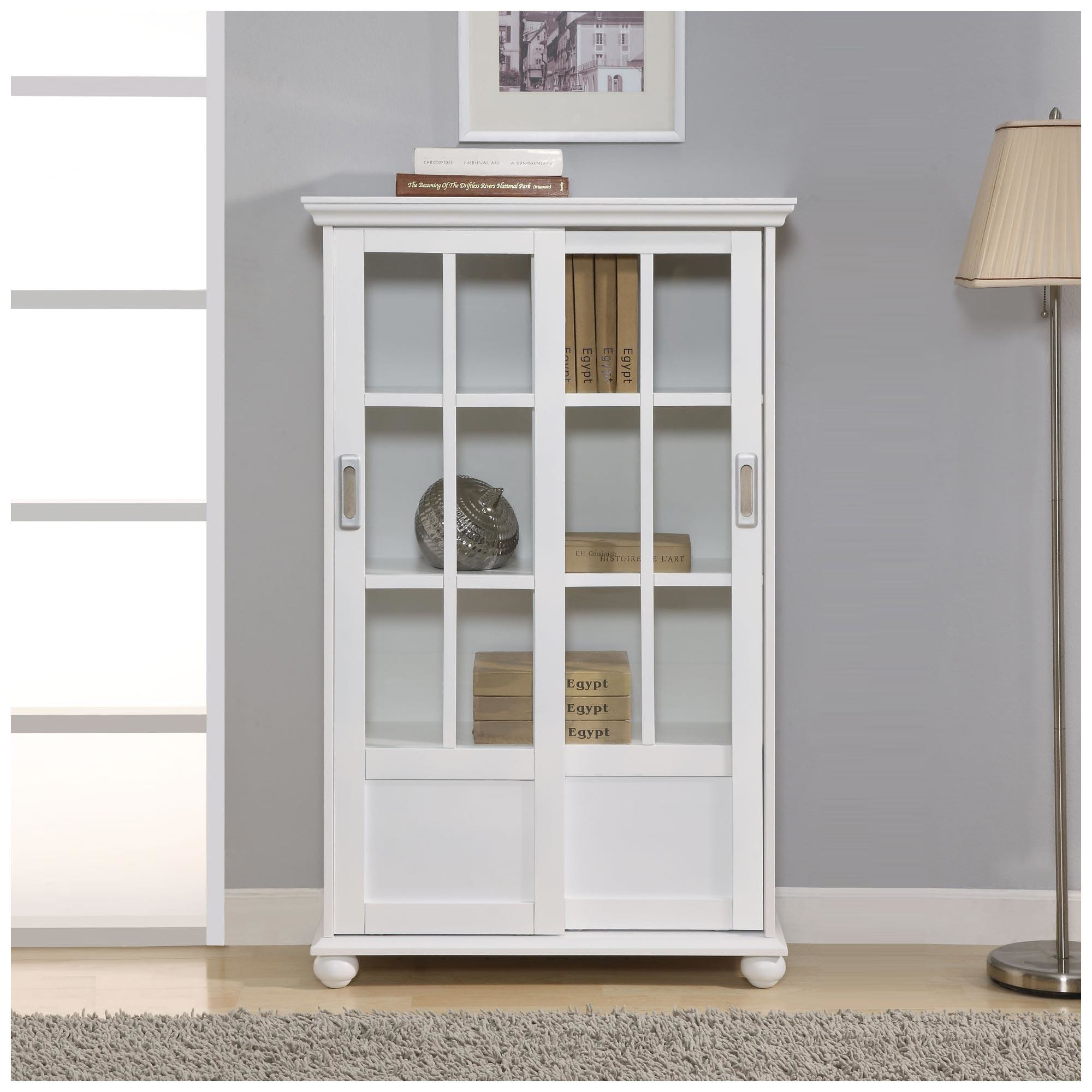 Sturdy Solid Wood Bookcase With Doors Bookcases Wood Bookcase With With Regard To Bookcases With Doors (#15 of 15)