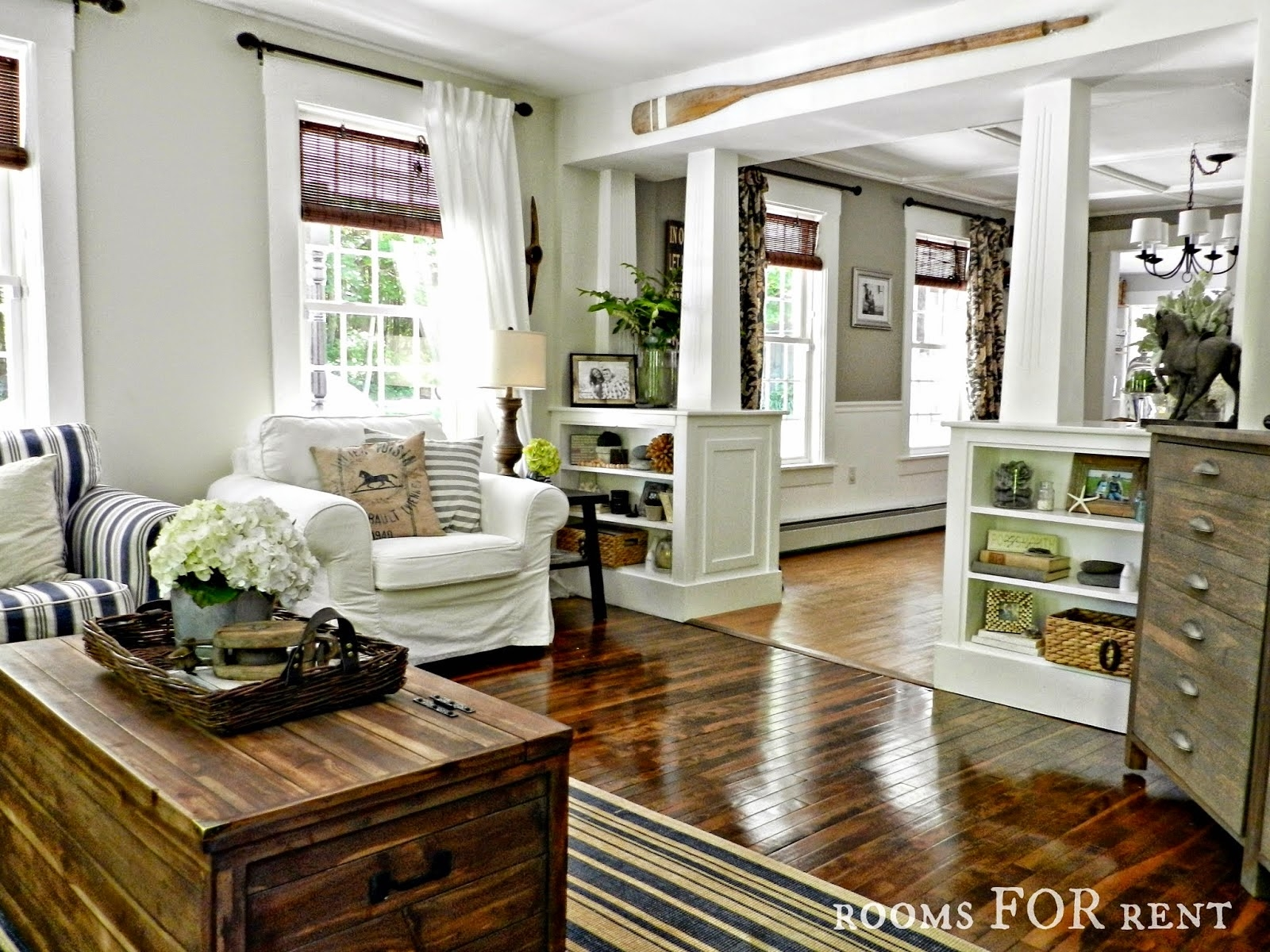 Style House Rooms For Rent City Farmhouse Love The Bookcases Intended For Family Room Bookcases (#12 of 15)