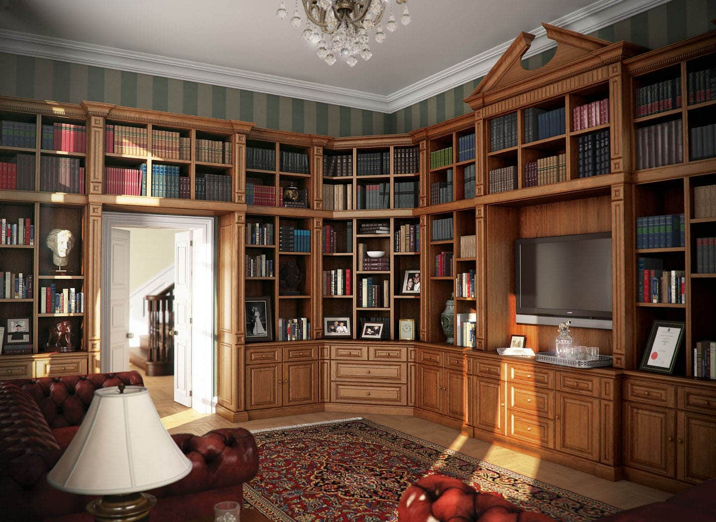 Stylish Traditional Fitted Bookcases Strachan For Fitted Book Shelves (#10 of 15)