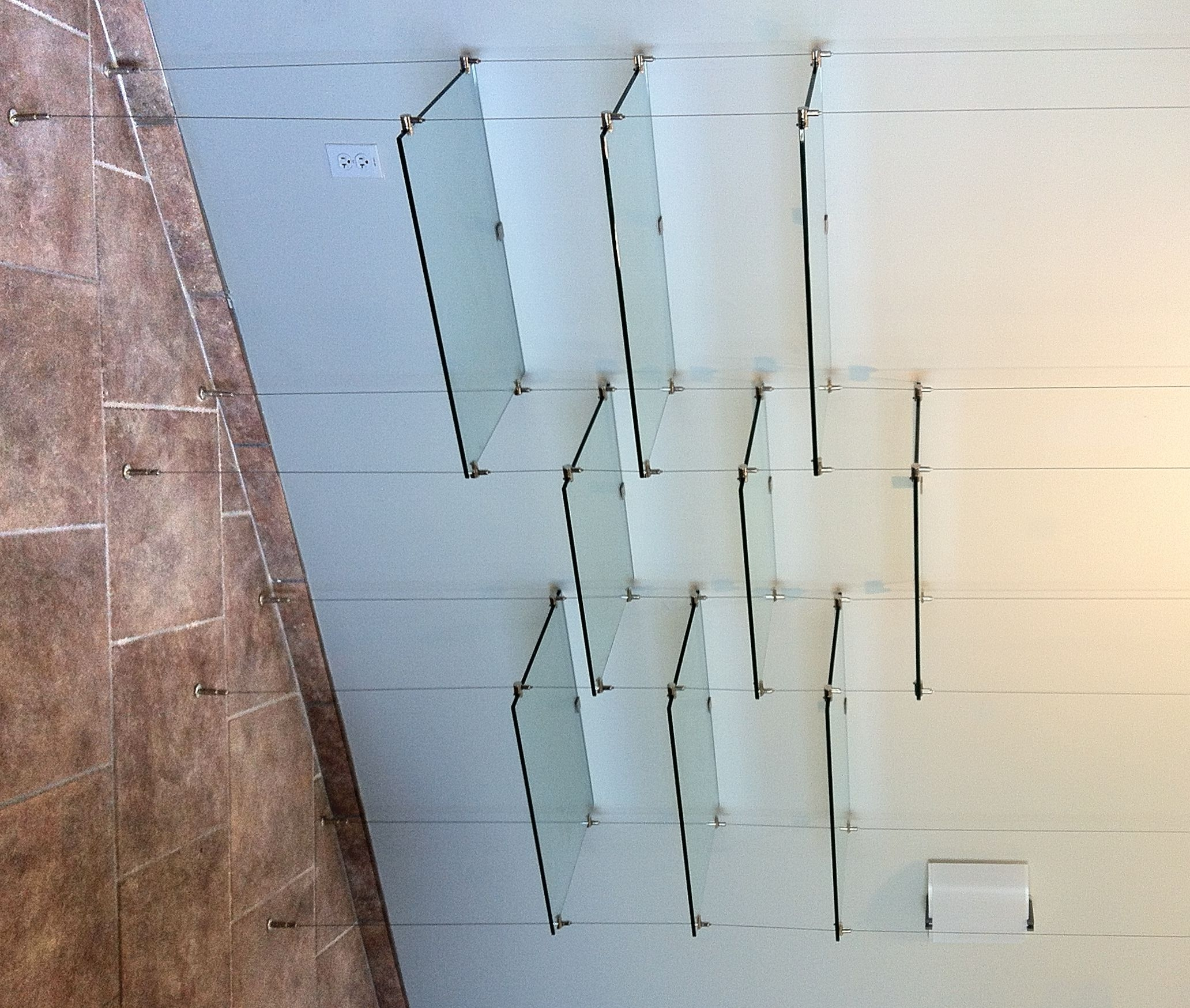 Popular Photo of Cable Suspended Glass Shelving