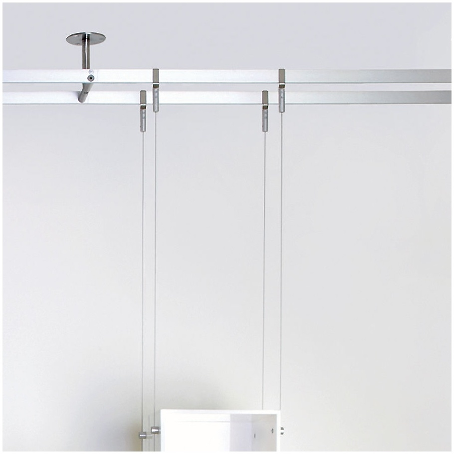 Suspended Glass Shelf Glass Cable Shelving Supporting Bread Within Cable Suspended Glass Shelving (#14 of 15)