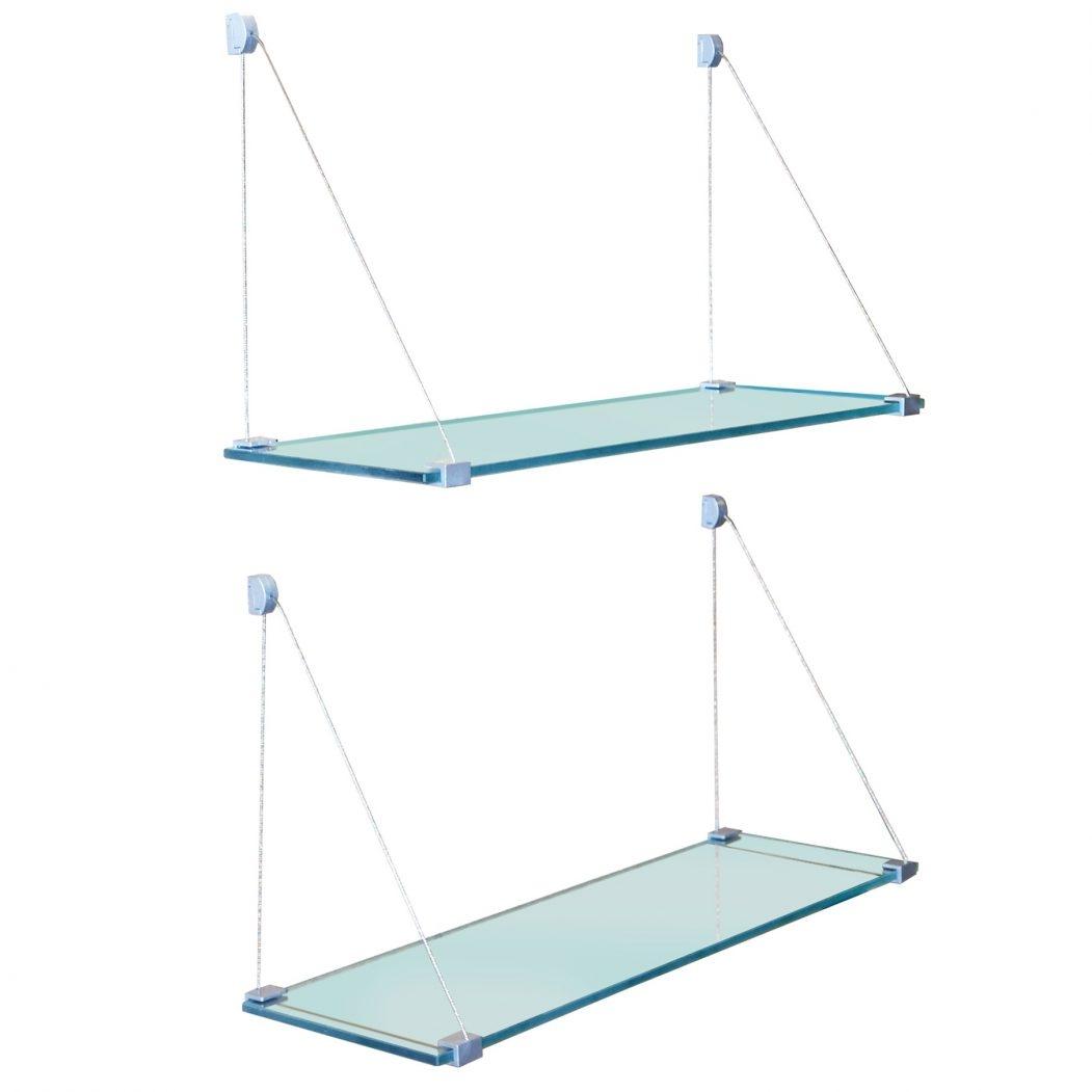 Suspended Glass Shelf Suspended Shelves Suspended Glass Shelf Throughout Suspended Glass Shelves (#13 of 15)