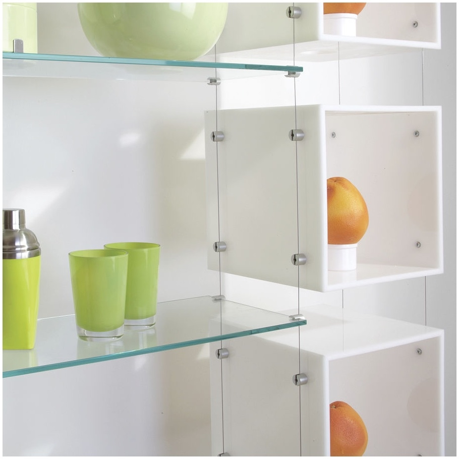 Suspended Glass Shelving Systems Design Modern Shelf Storage And With Regard To Hanging Glass Shelves Systems (#12 of 12)