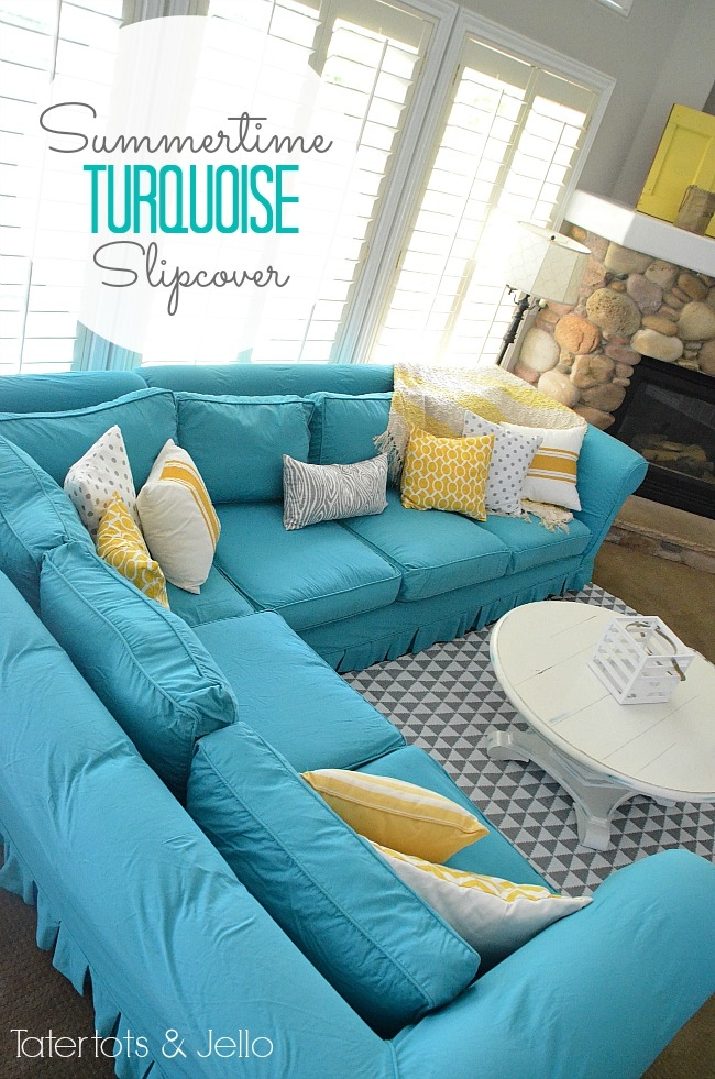 Popular Photo of Turquoise Sofa Covers