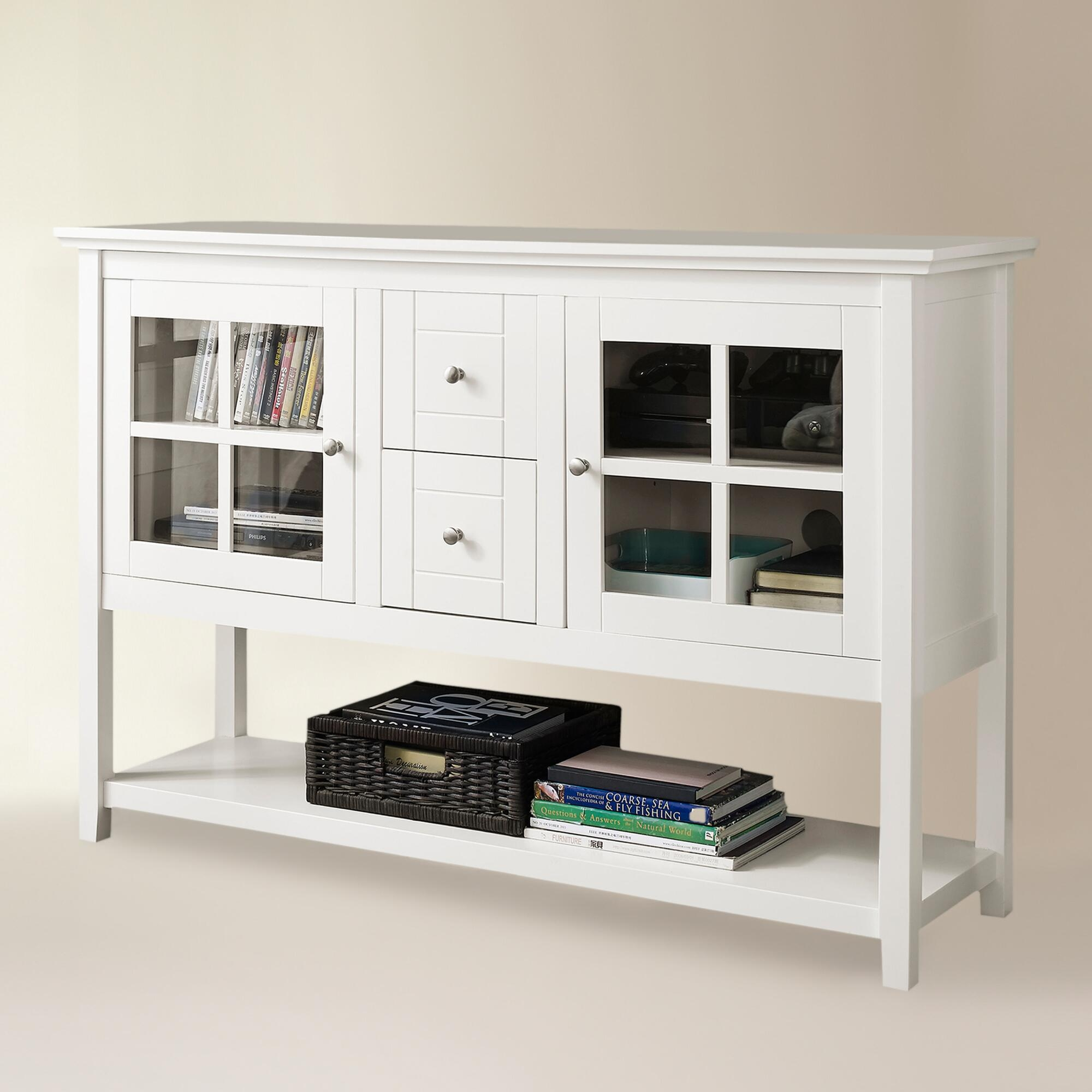 Sylas Standard Bookcase White Solid Wood Bookcase Wayfair 2 Glass In Bookcase With Bottom Cabinets (#12 of 15)