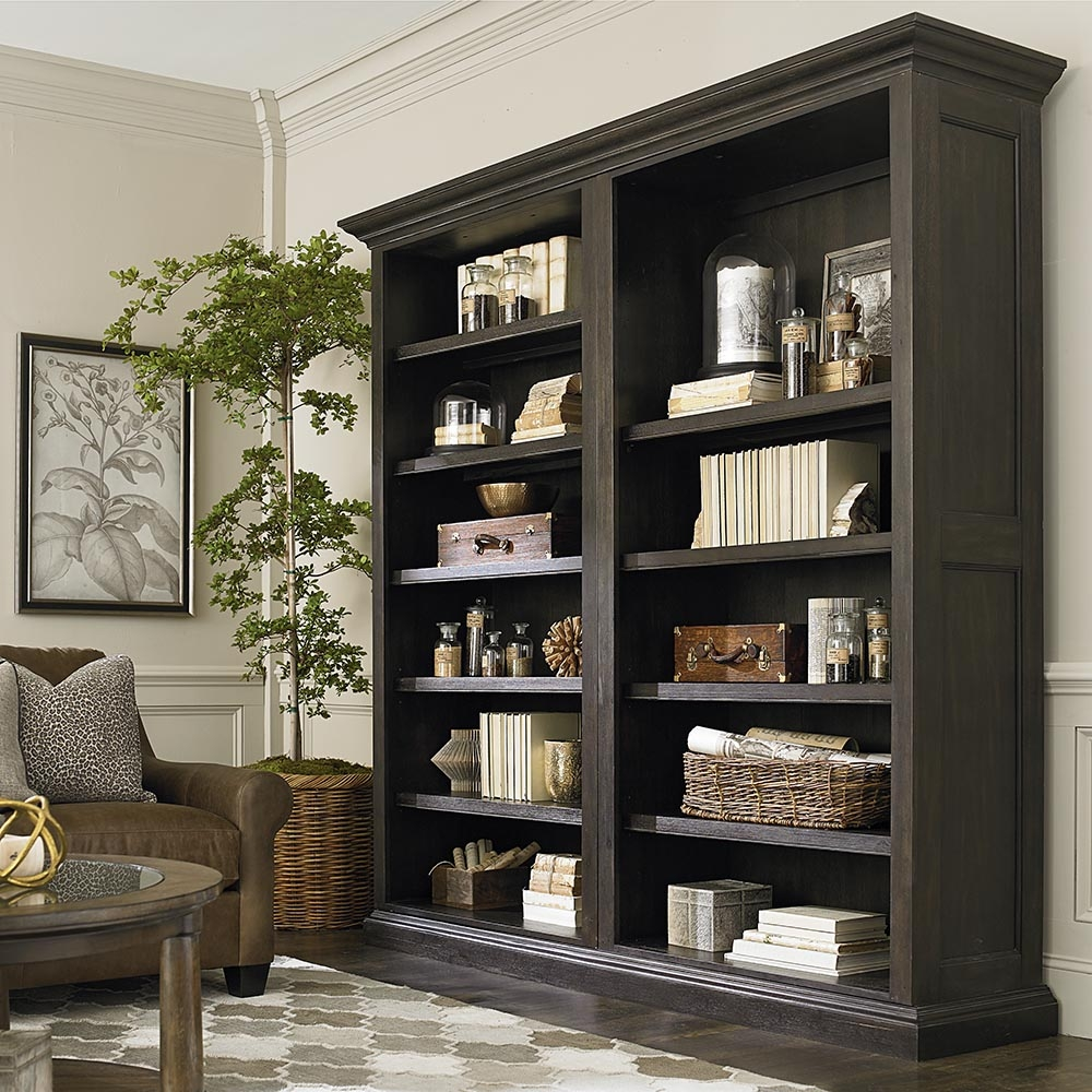 Tall Single Open Bookcase Brown Bassett Home Furnishings In Tall Bookcases (View 11 of 15)
