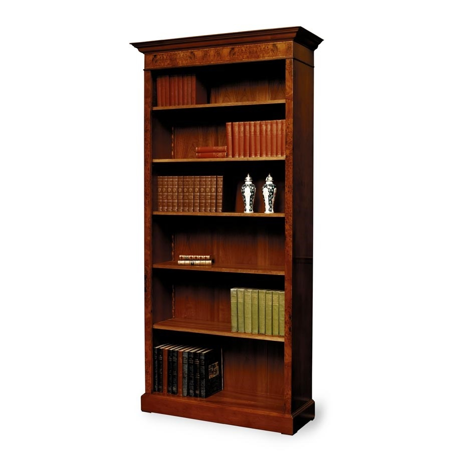 Tall Yew Bookcase With Inlay Bookcases Cabinets Bookcases Inside Tall Bookcases (View 7 of 15)