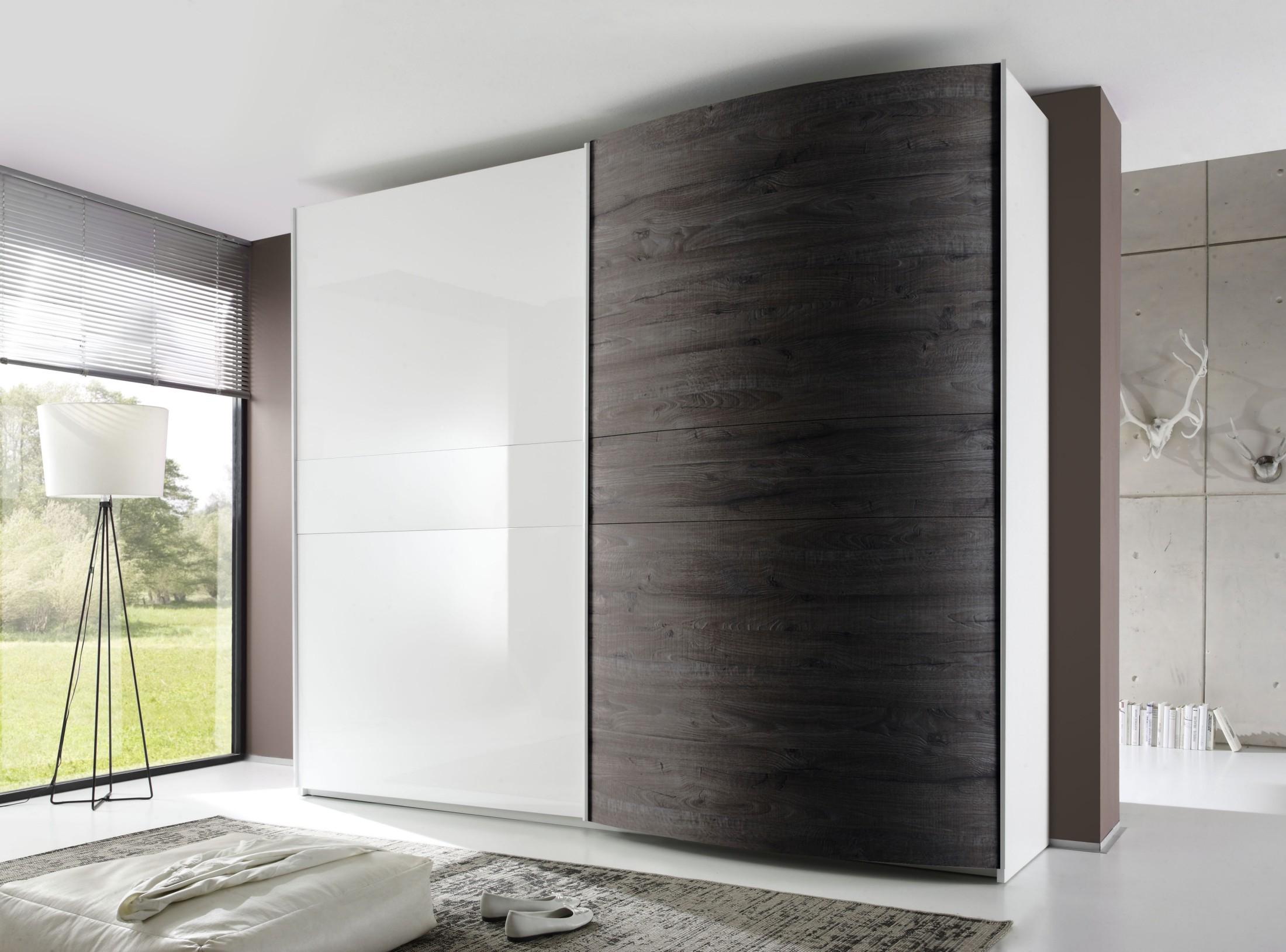 Tambura Curved Sliding Doors Wardrobe White Wenge Buy Online At Within Curved Wardrobe Doors (View 9 of 15)
