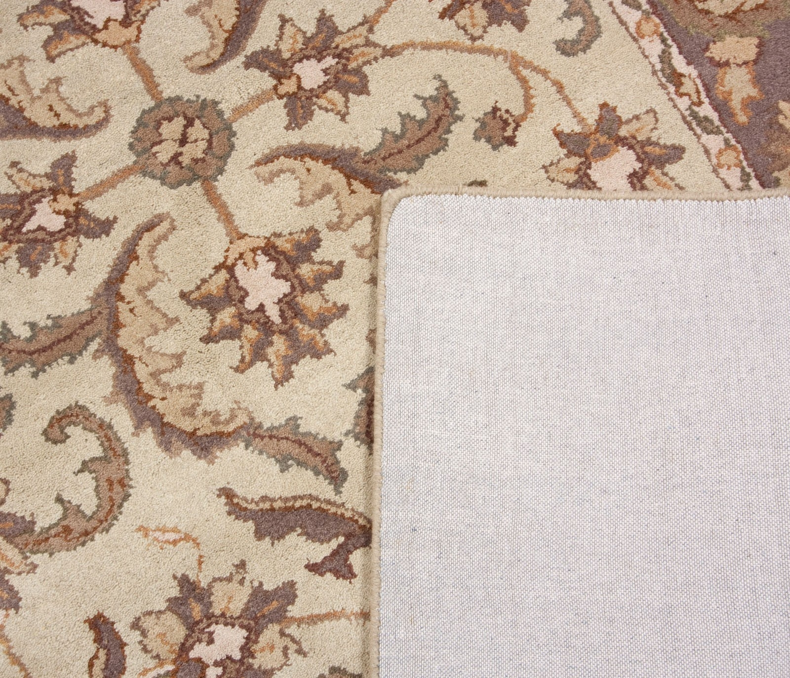 Tan Beige Brown Purple Gold Hand Tufted Wool Area Rug Carpet 5×8 With Regard To Hand Tufted Wool Area Rugs (#12 of 15)
