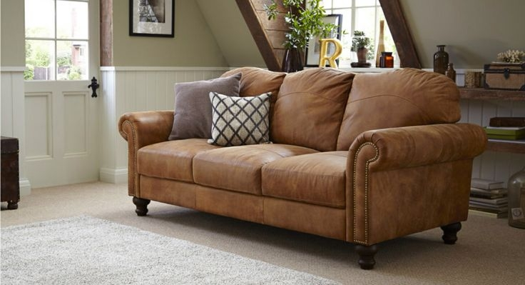 Tan Leather Sofa Dfs House Ideas Pinterest Tan Leather Pertaining To Light Tan Leather Sofas (View 2 of 15)