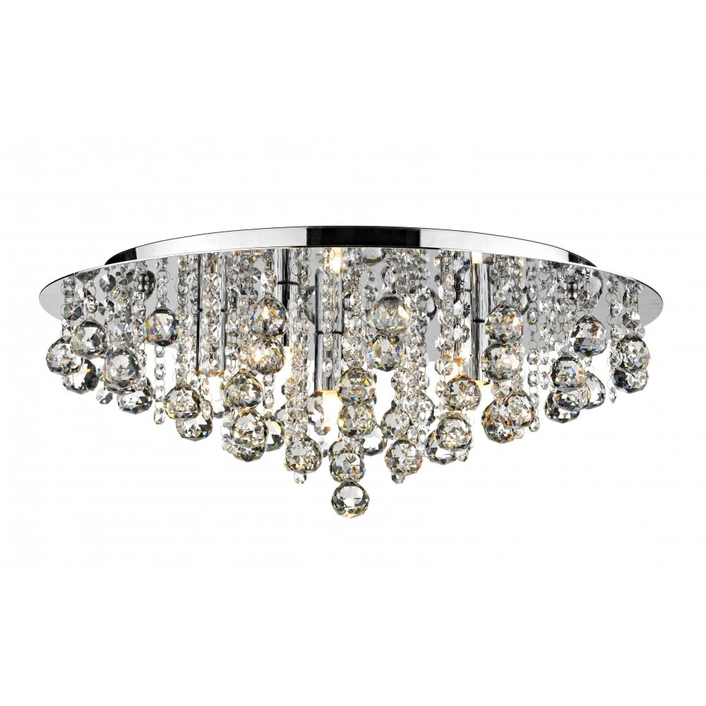 Tapesii Flush Chandelier Ceiling Lights Collection Of For Flush Fitting Chandelier (#12 of 12)