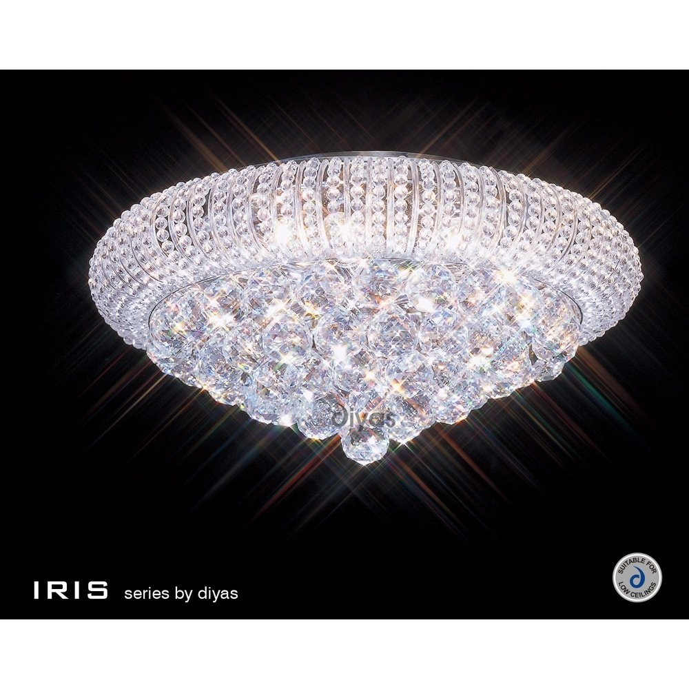Tapesii Flush Chandelier Ceiling Lights Collection Of Regarding Lead Crystal Chandelier (#12 of 12)
