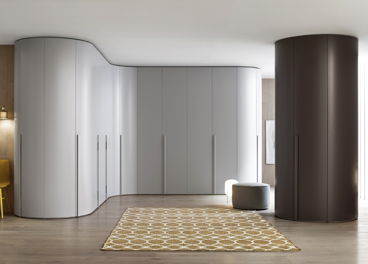 Tempo Curved Wardrobe Fitted Wardrobes Bedroom Furniture Intended For Curved Wardrobe Doors (View 2 of 15)