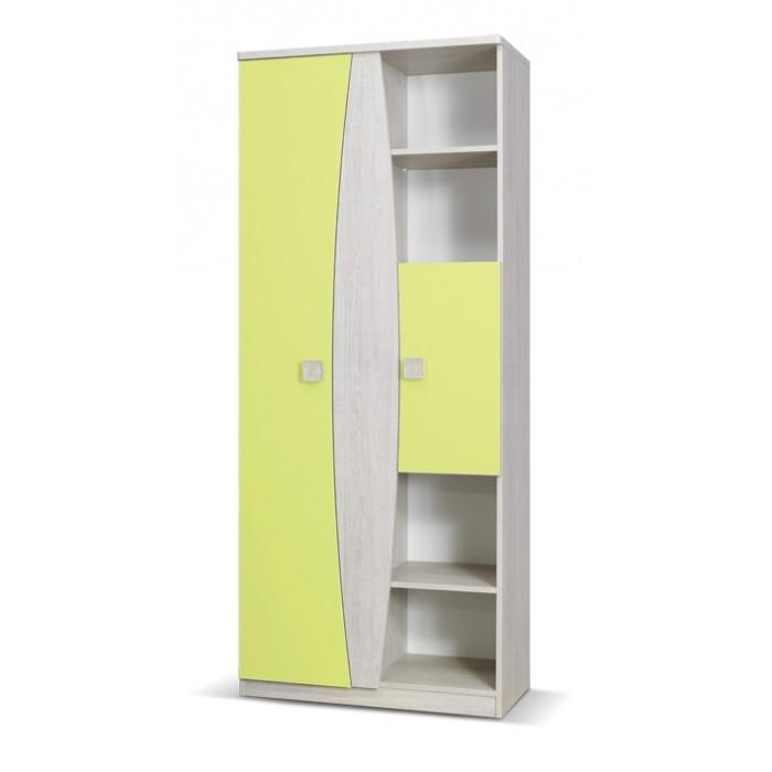 Tenus Childrens 2 Door Wardrobe With Shelves Pertaining To Wardrobe With Shelves (#11 of 15)