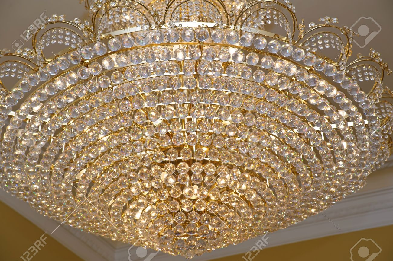The Big Crystal Chandelier Stock Photo Picture And Royalty Free With Regard To Big Crystal Chandelier (View 2 of 12)