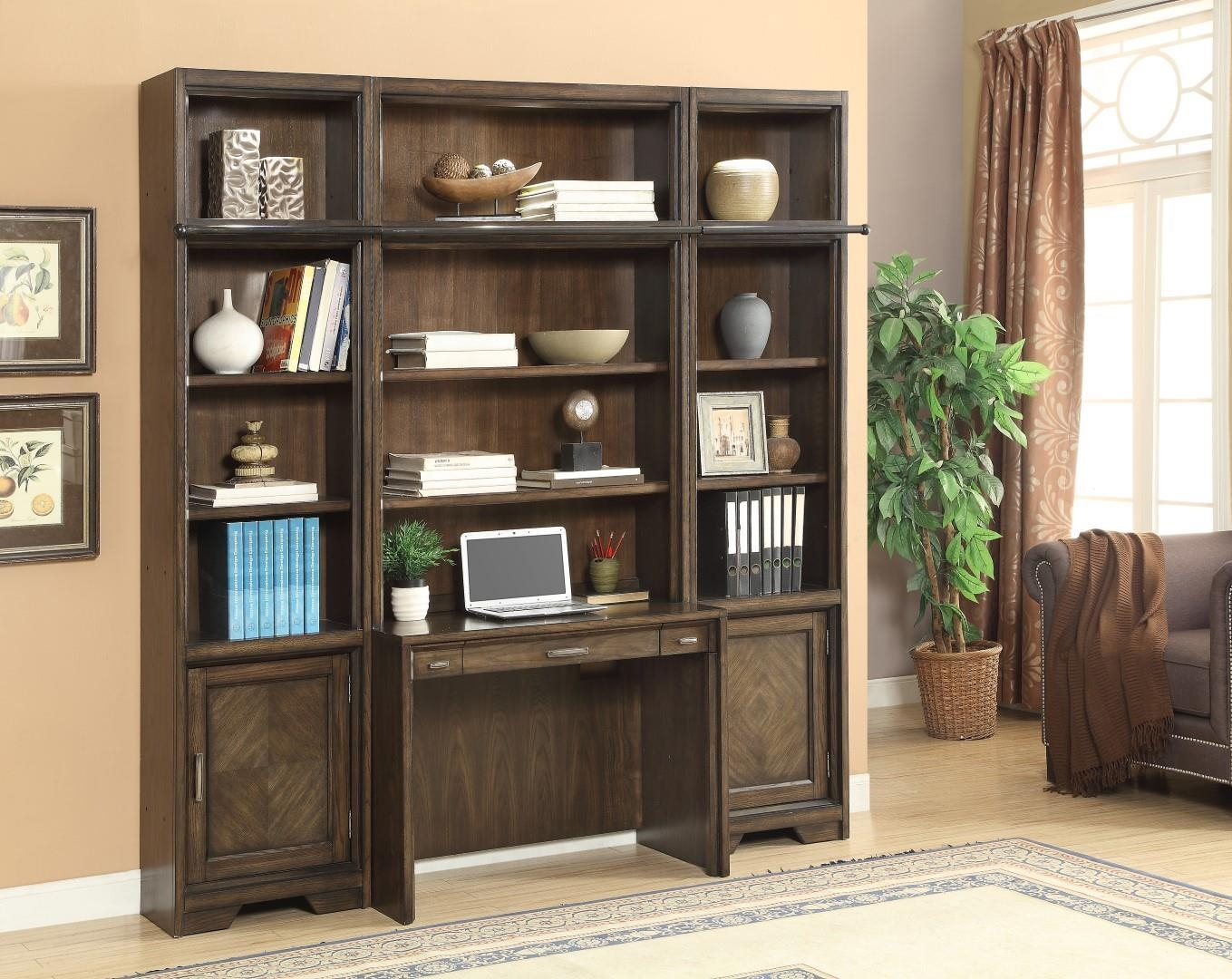 The Meridien Library Desk And Bookcase Wall Unit 15922 With Library Wall Units Bookcase (#15 of 15)