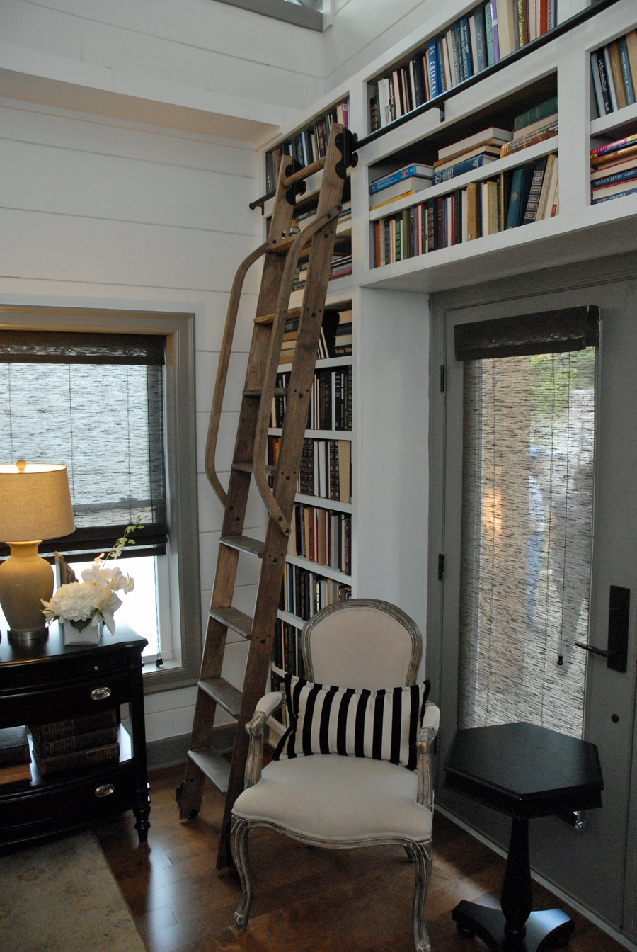 The Rolling Ladder Gallery Regarding Sliding Library Ladder (#15 of 15)
