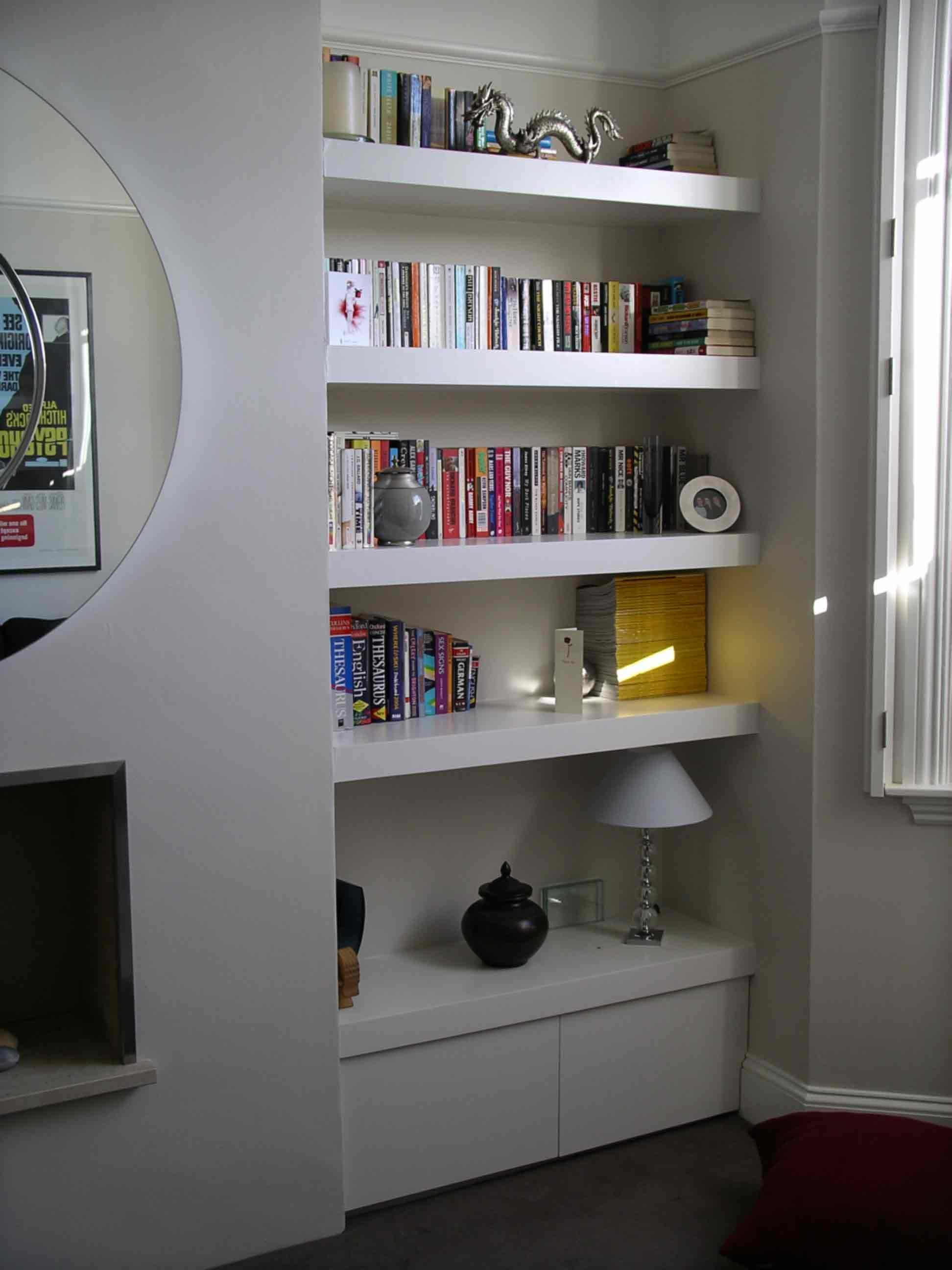 The Shelving Company Alcove Cupboard Floating Alcove Shelves In Pertaining To Shelves And Cupboards (View 7 of 12)