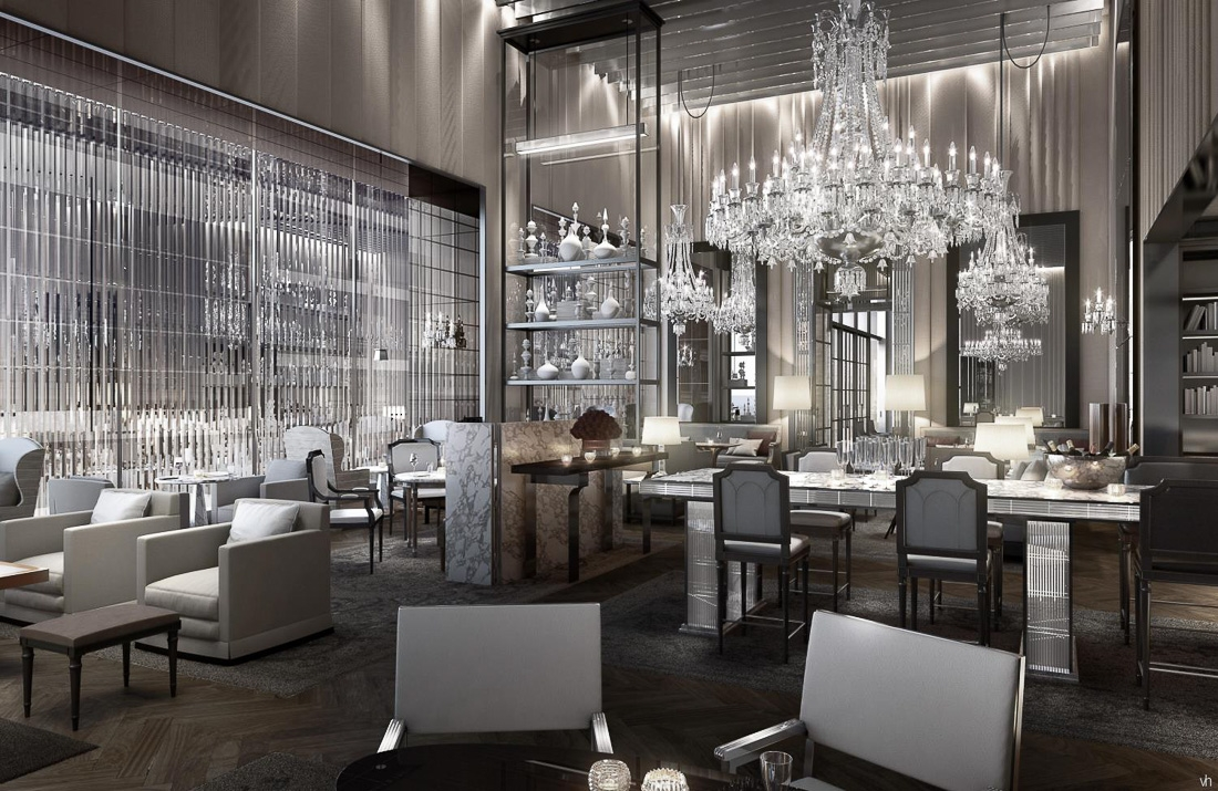 The Virtual Dinner Party Chevalier Baccarat Hotel Within Restaurant Chandeliers (#12 of 12)