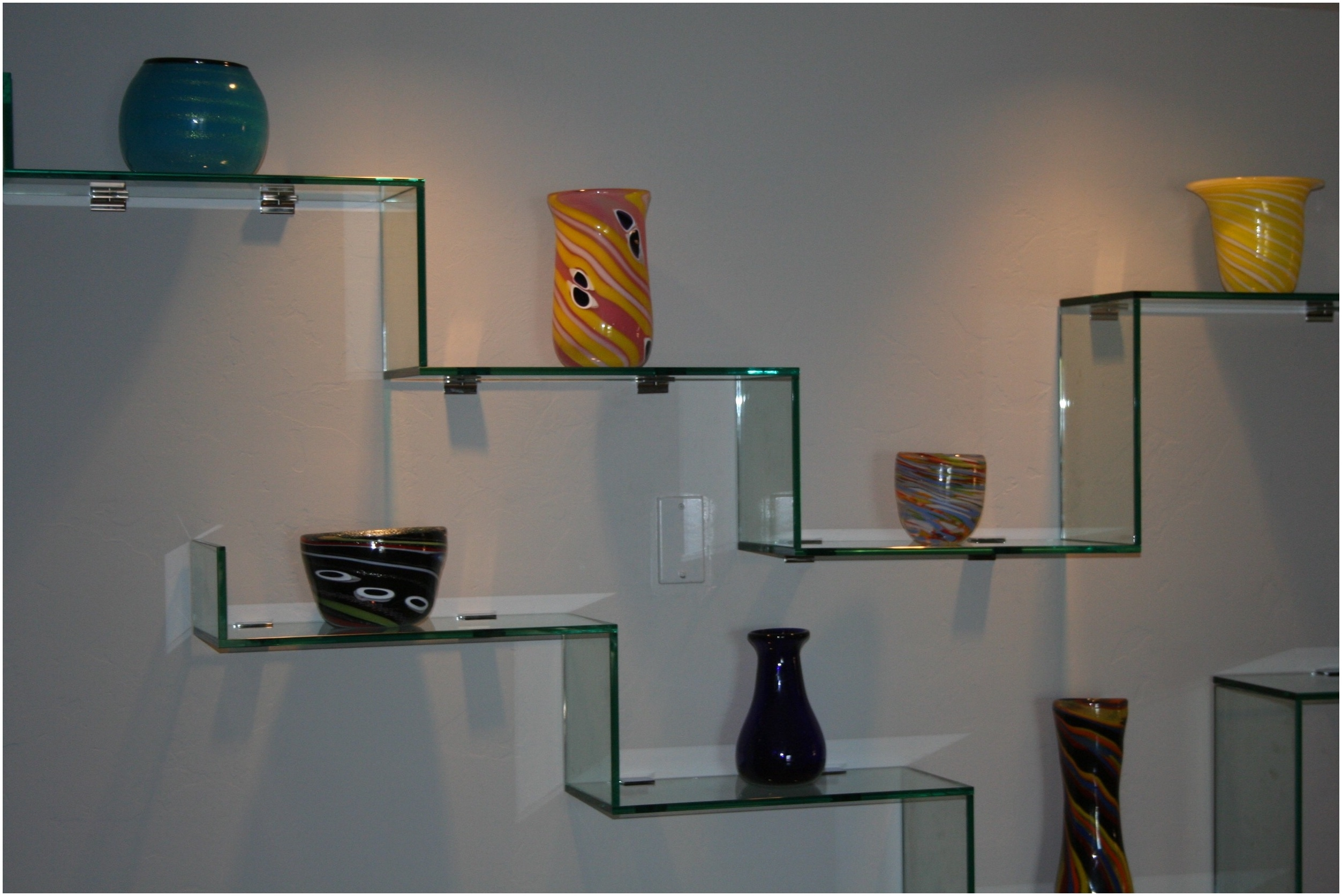 Thick Glass Floating Shelves Uk Wood And Floating Glass Shelf Pertaining To Floating Glass Shelf For Dvd Player (#9 of 12)