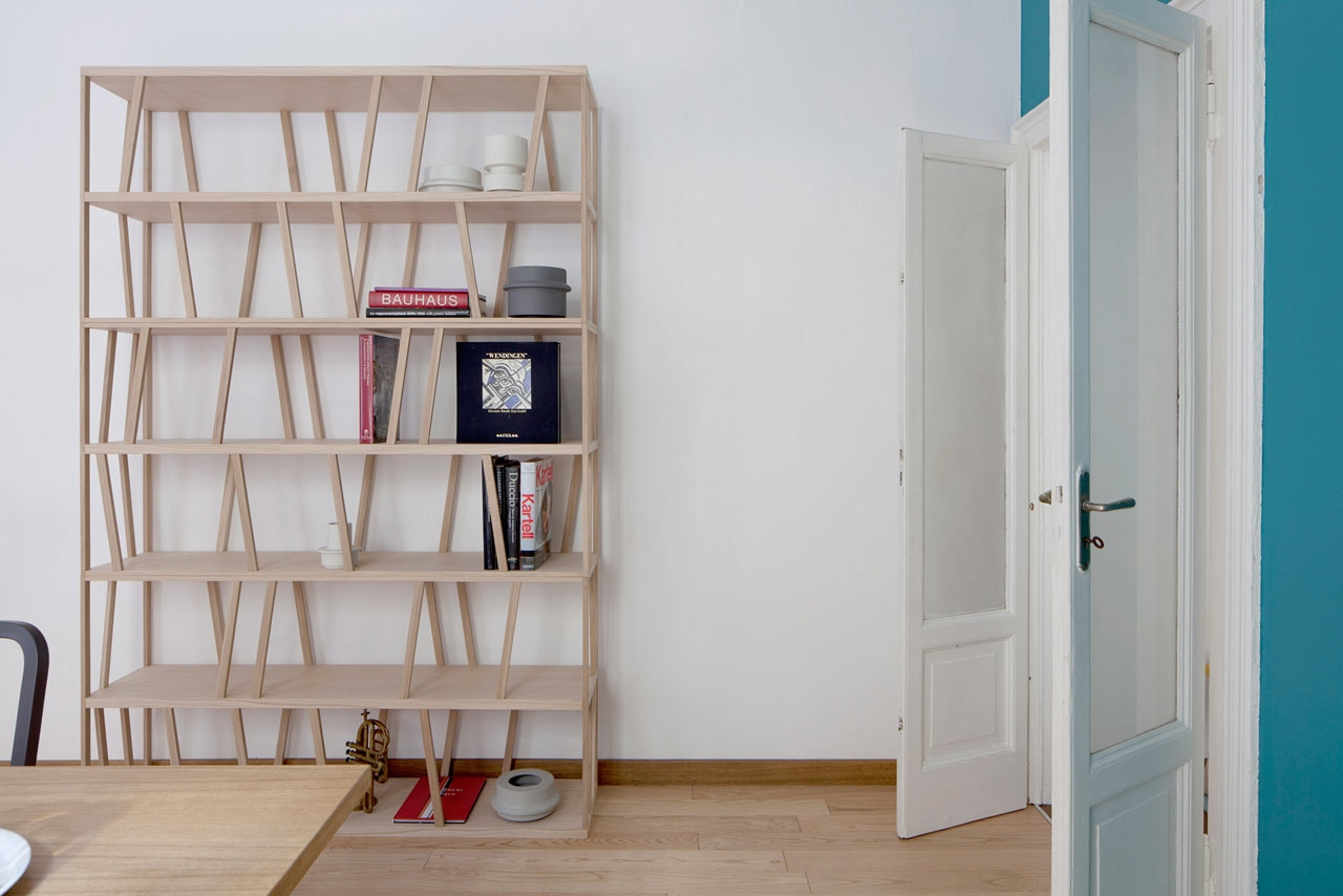 Tilta A Double Sided Freestanding Bookcase Design Milk Inside Freestanding Bookcase Wall (View 14 of 15)