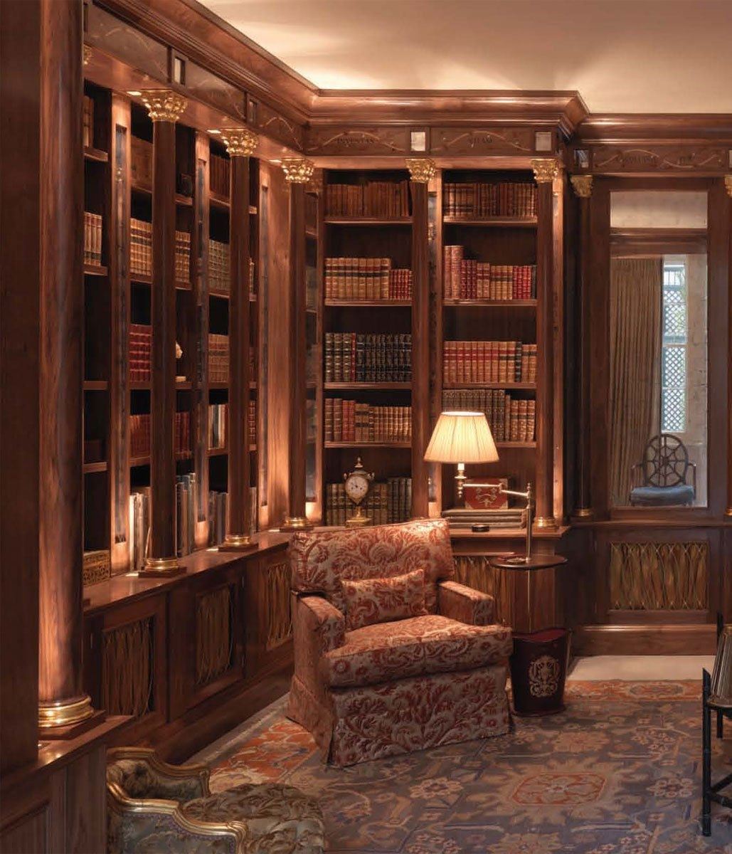 Tim Gosling Fitted Library In Sycamore Luxury Bespoke Furniture Within Bespoke Libraries (#13 of 15)