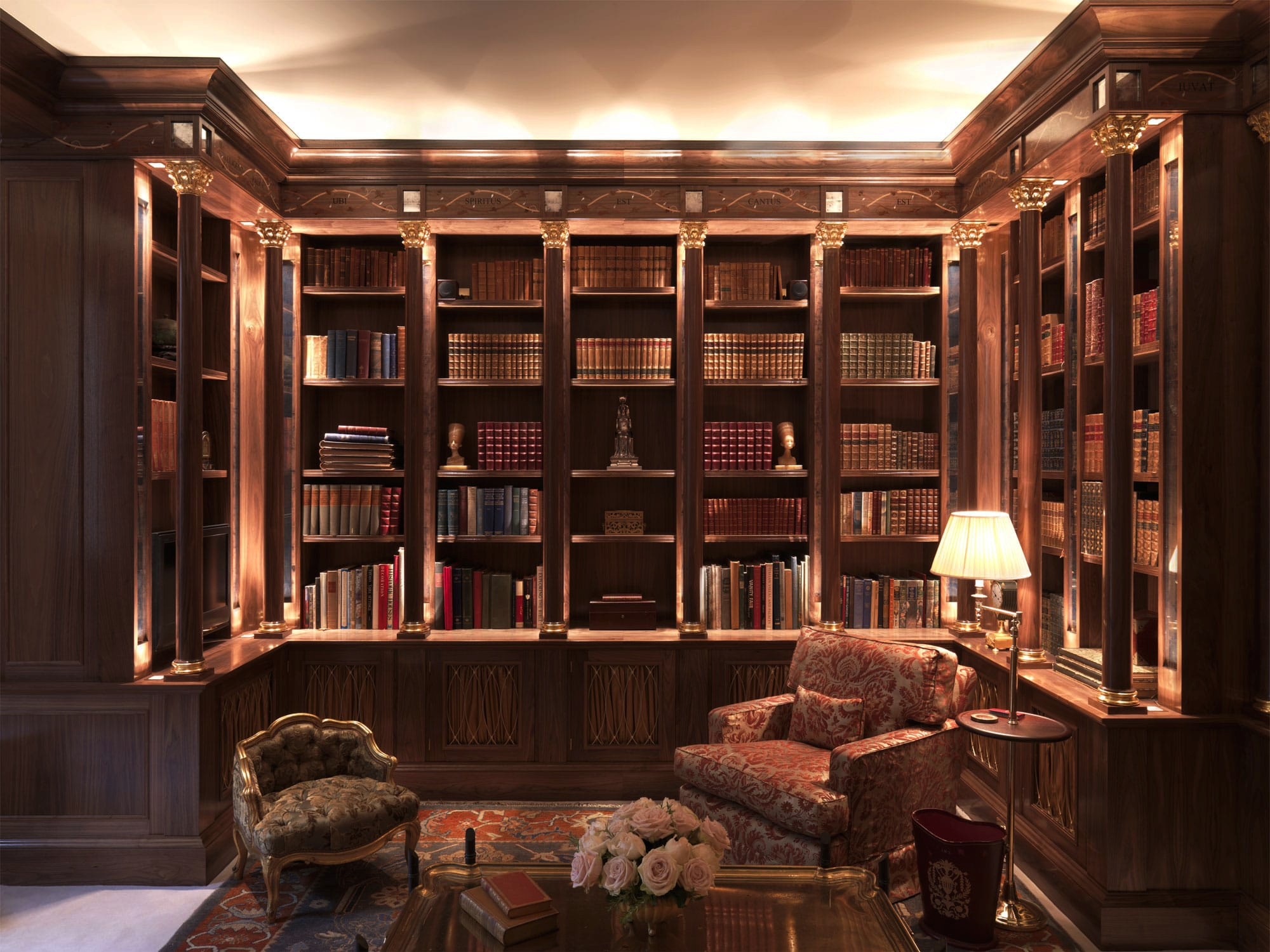 Tim Gosling Fitted Library In Sycamore Luxury Bespoke Furniture Within Bespoke Libraries (#12 of 15)