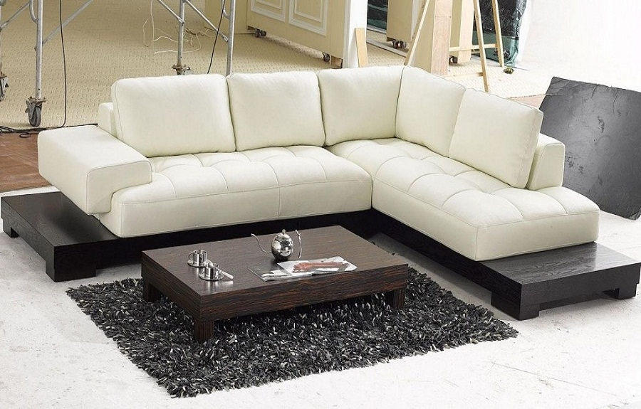 To Match Modern Sectional Sofas Modern Beige Leather Sectional With Regard To Sofas And Sectionals (#14 of 15)
