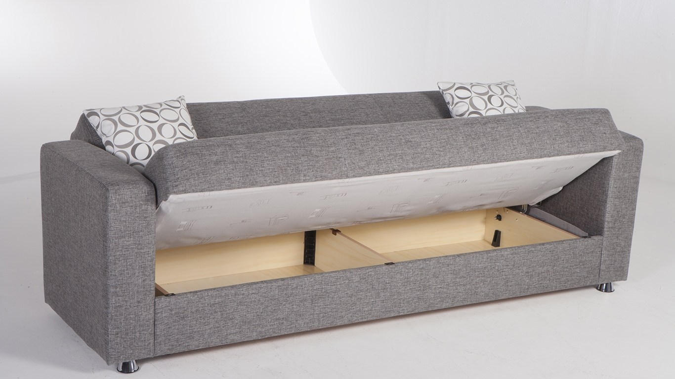 Tokyo Diego Gray Convertible Sofa Bed Sunset For Convertible Sofa Bed (#12 of 15)